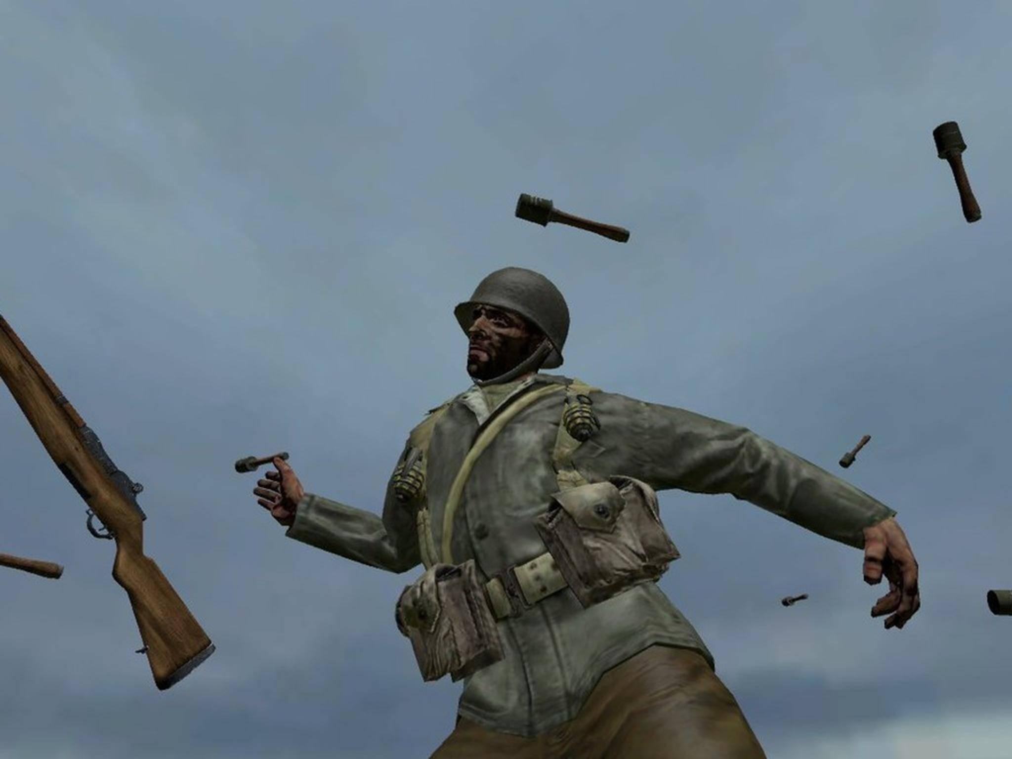 """In """"Call of Duty: World at War"""" fliegen Dir im Veteran-Schwierigkeitsgrad ständig Granaten um die Ohren."""
