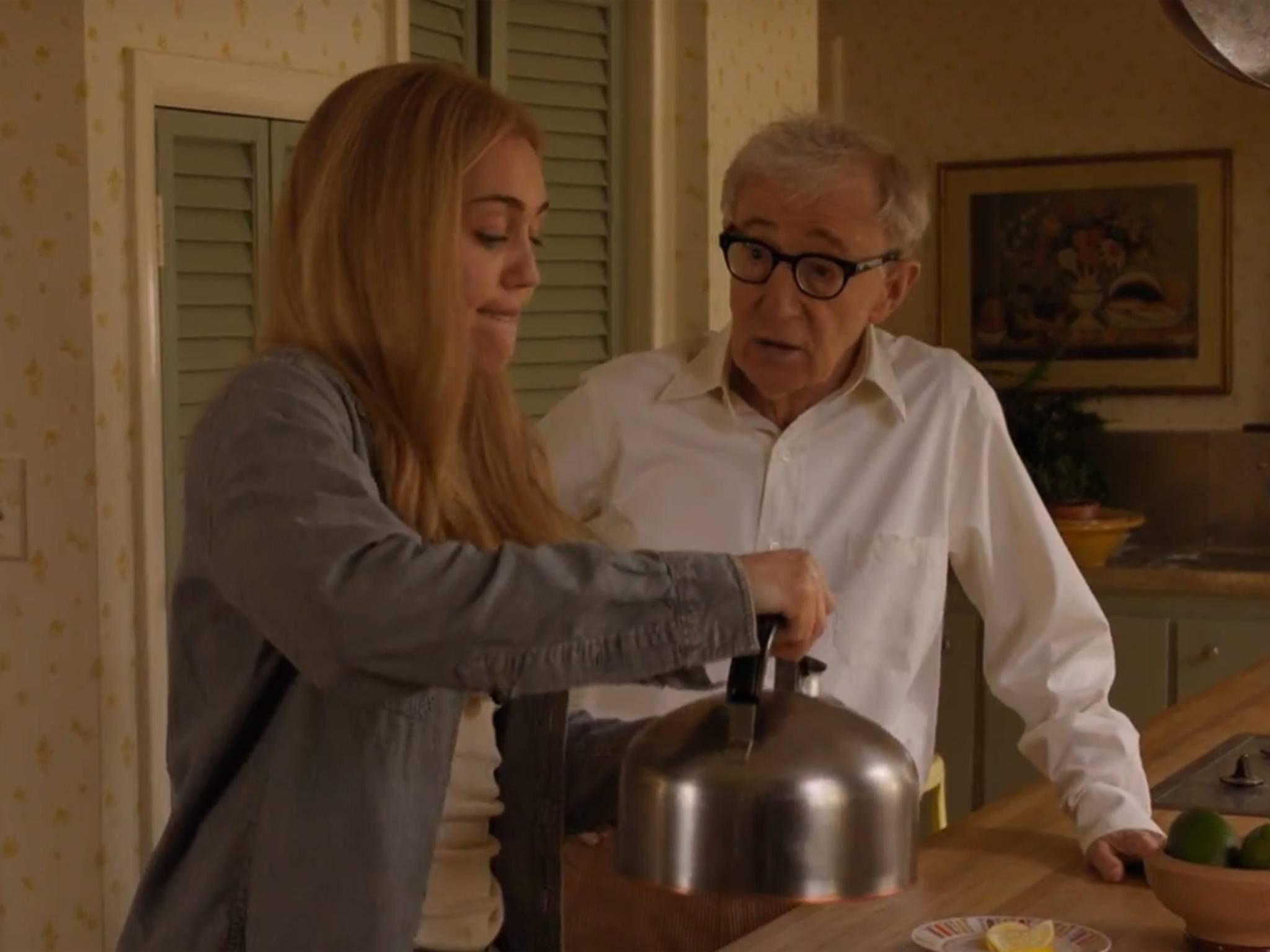 """Konfliktpotenzial: Woody Allen als Familienoberhaupt, Miley Cyrus als Hippie in """"Crisis in Six Scenes""""."""