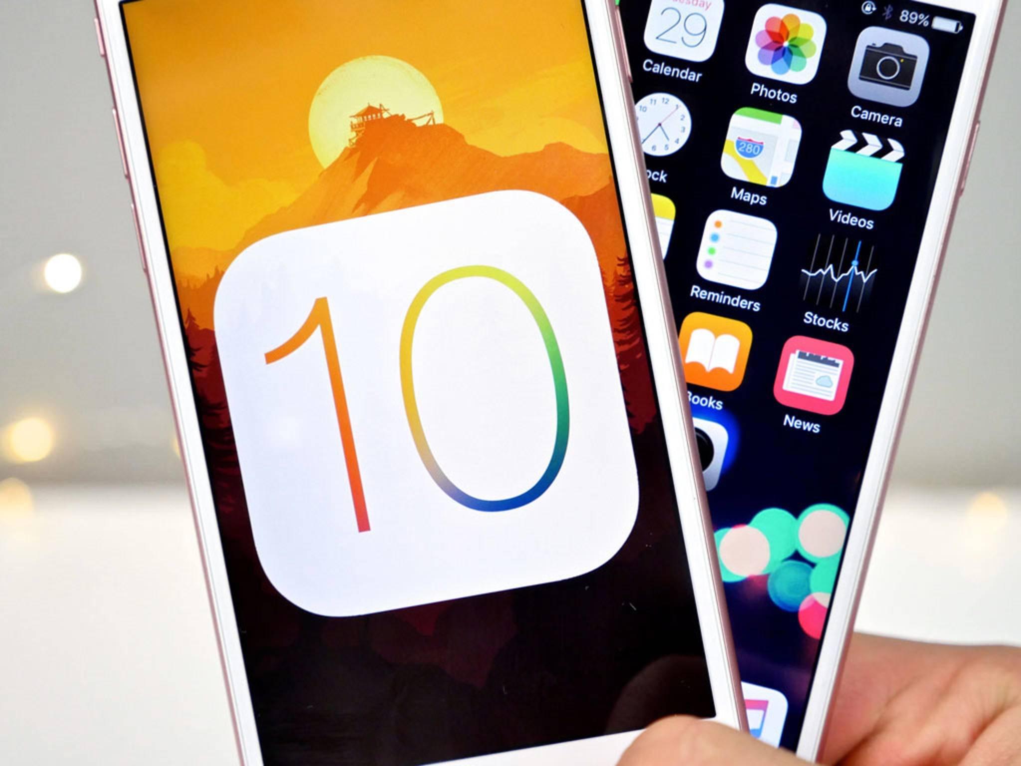 Mit iOS 10.0.2 gibt es einen ersten Patch für iOS 10.