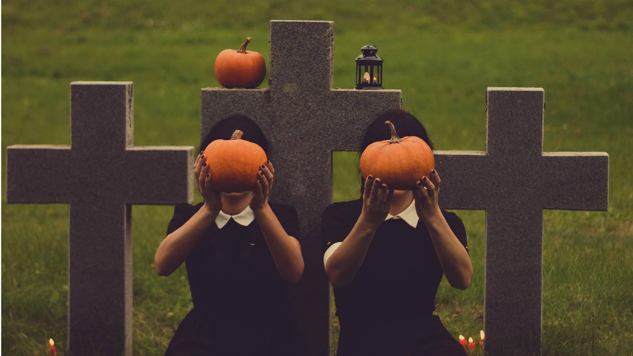 Nicht nur der Kürbis ist zu Halloween schmückendes Beiwerk.