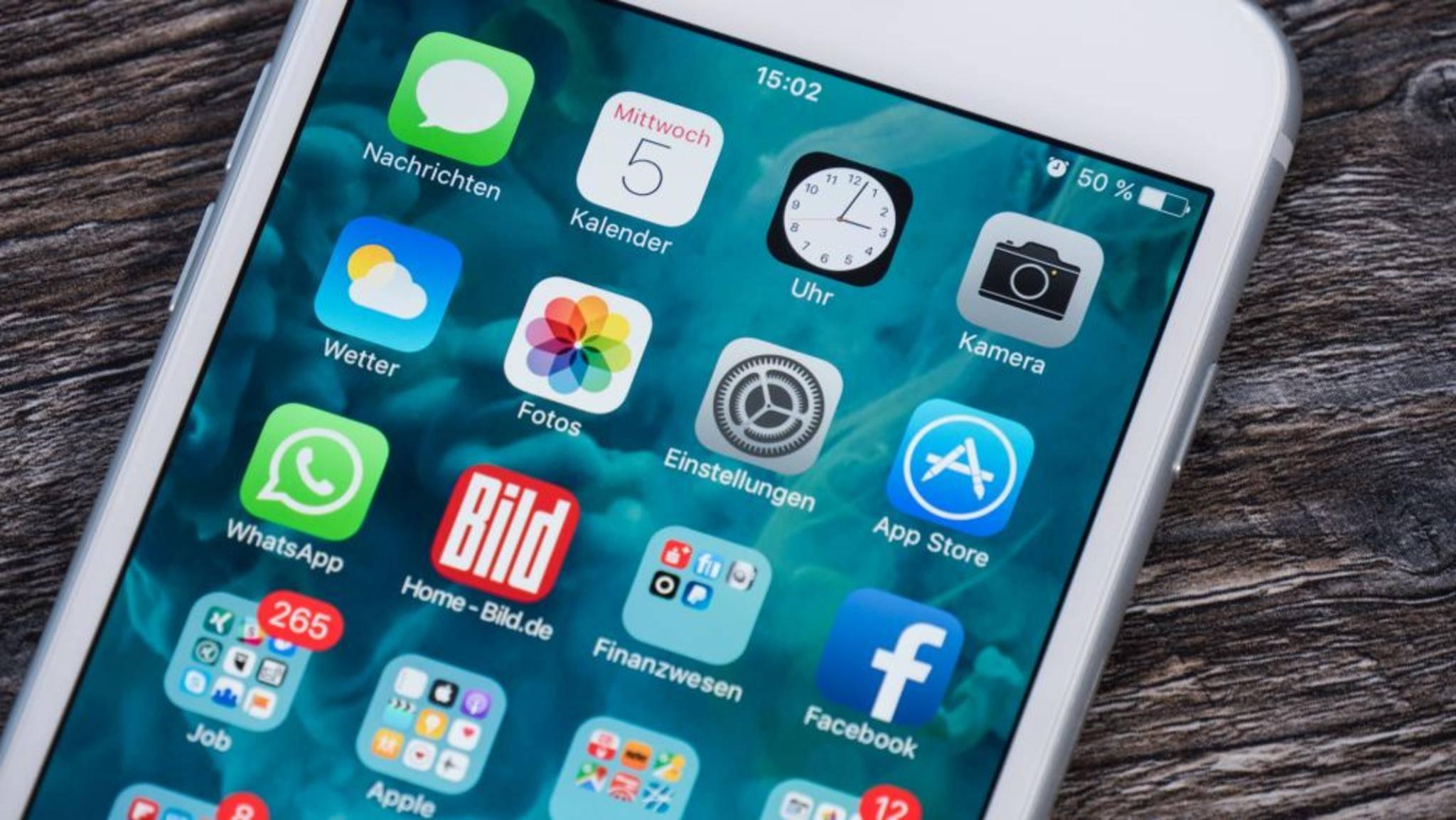 In der Fotos-App des iPhones können nicht alle Alben gelöscht werden.