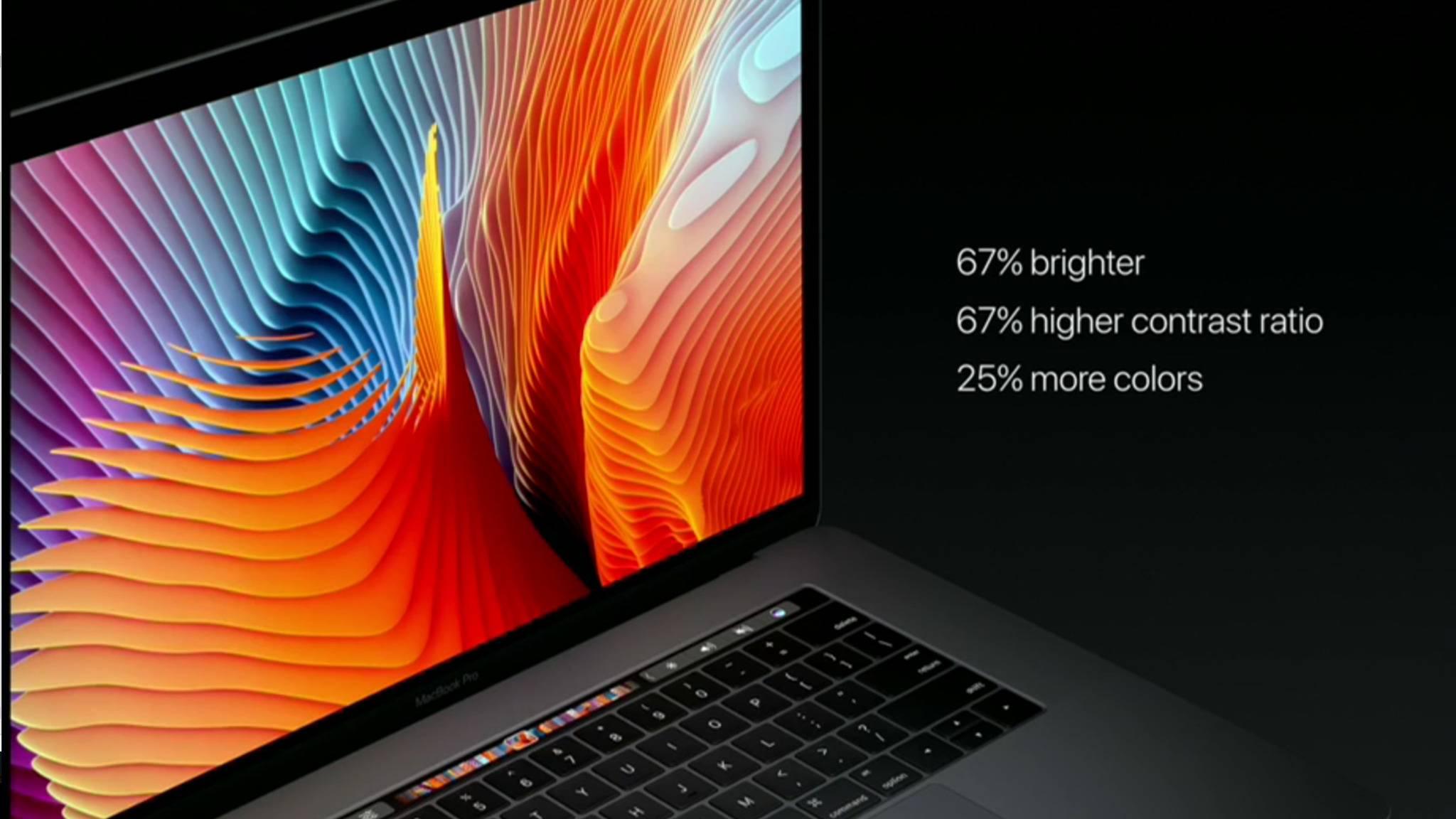 Das neue MacBook Pro hat ein deutlich besseres Display.