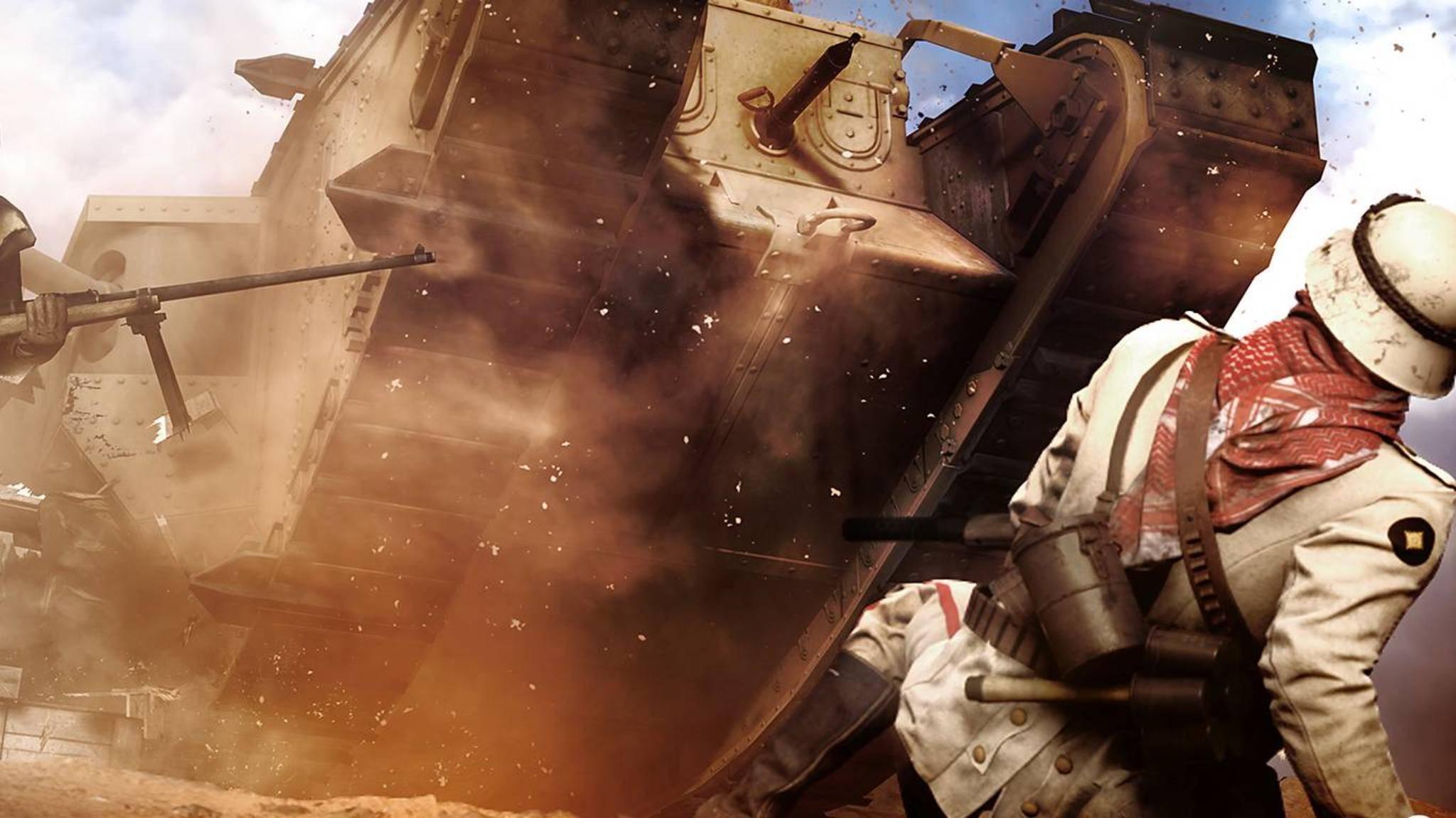 """Als Panzerfahrer kämpfen wir uns durch die ersten Missionen von """"Battlefield 1""""."""