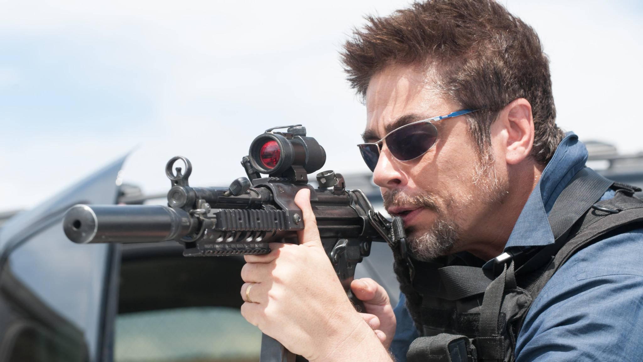 """Schon in """"Sicario"""" zeigte Benicio Del Toro sein Action-Talent."""