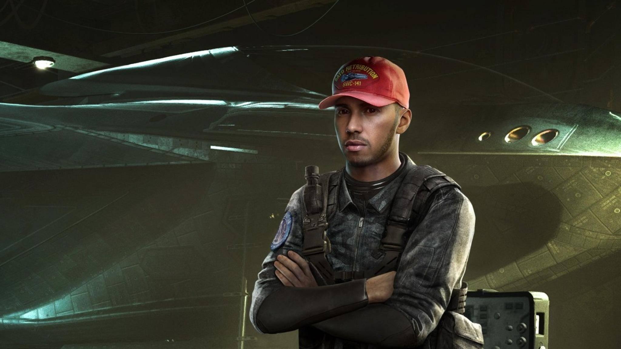 """Der Rennfahrer Lewis Hamilton spielt eine Rolle in """"Call of Duty: Infinite Warfare""""."""