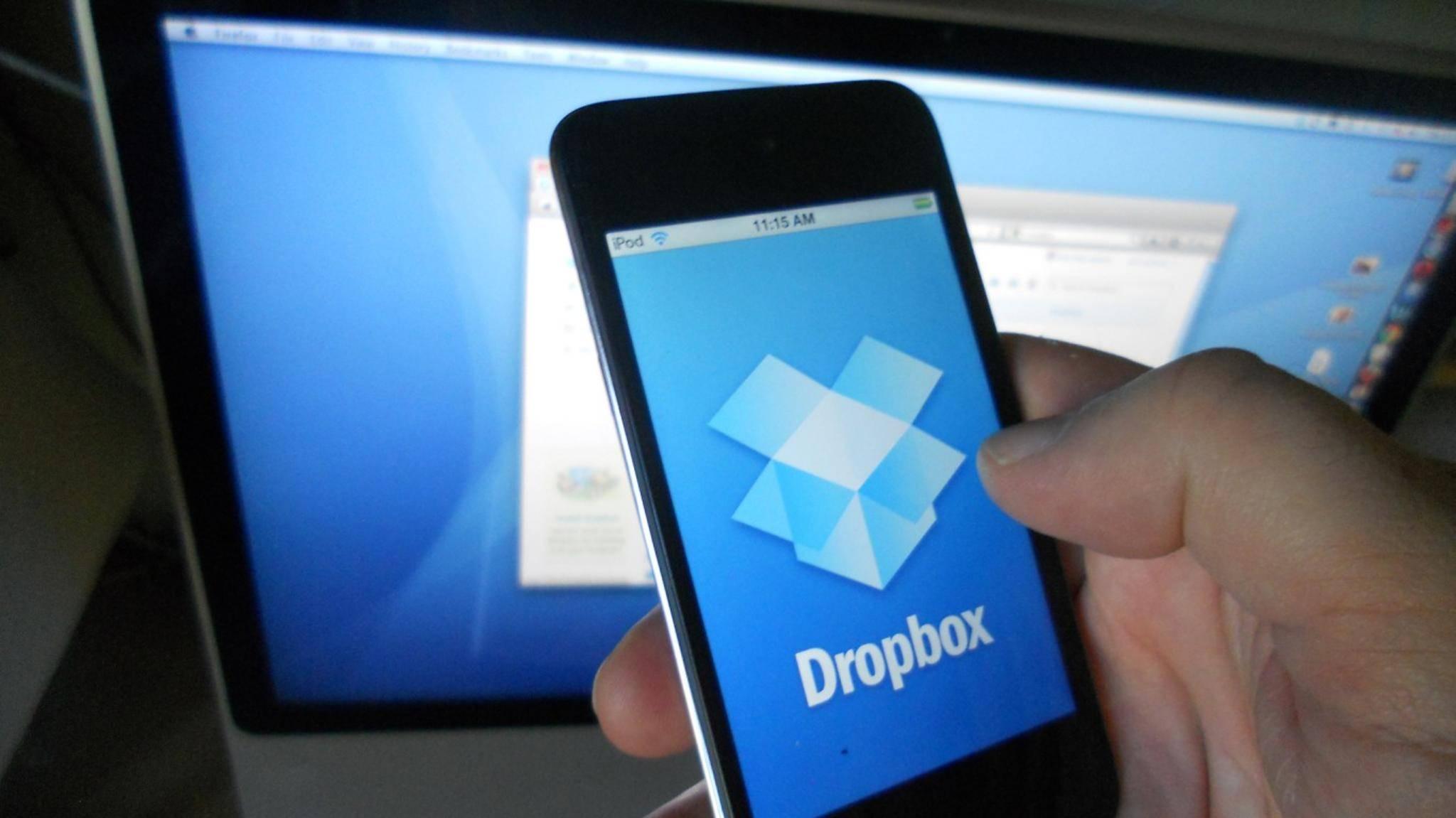 Dropbox gibt es natürlich auch als App für Android und iOS.