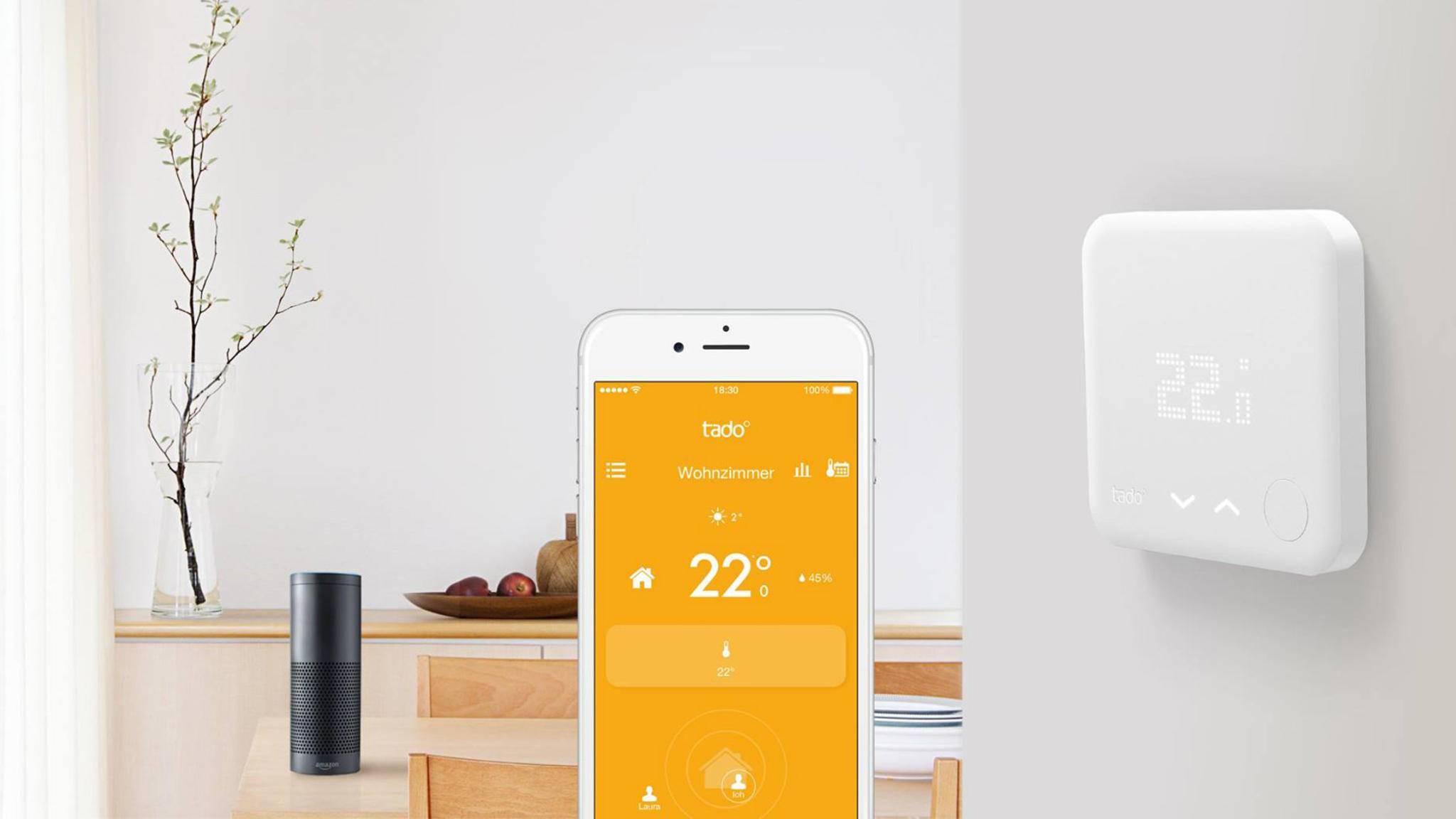 Das Münchner Start-up Tado bietet eine smarte Heizungssteuerung per App.