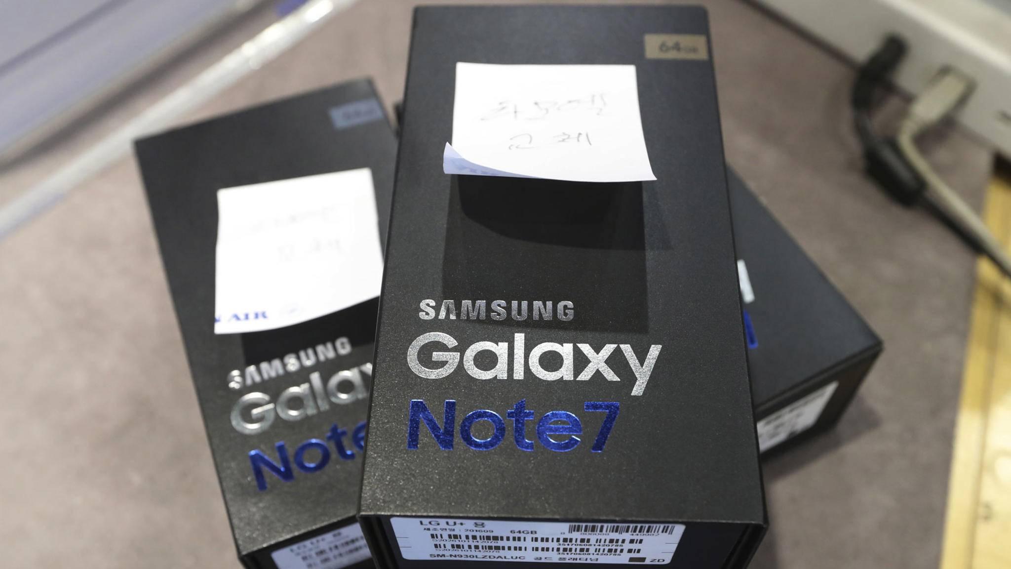 Note 7-Rückläufer: Immer mehr Kunden wollen Samsung den Rücken kehren.
