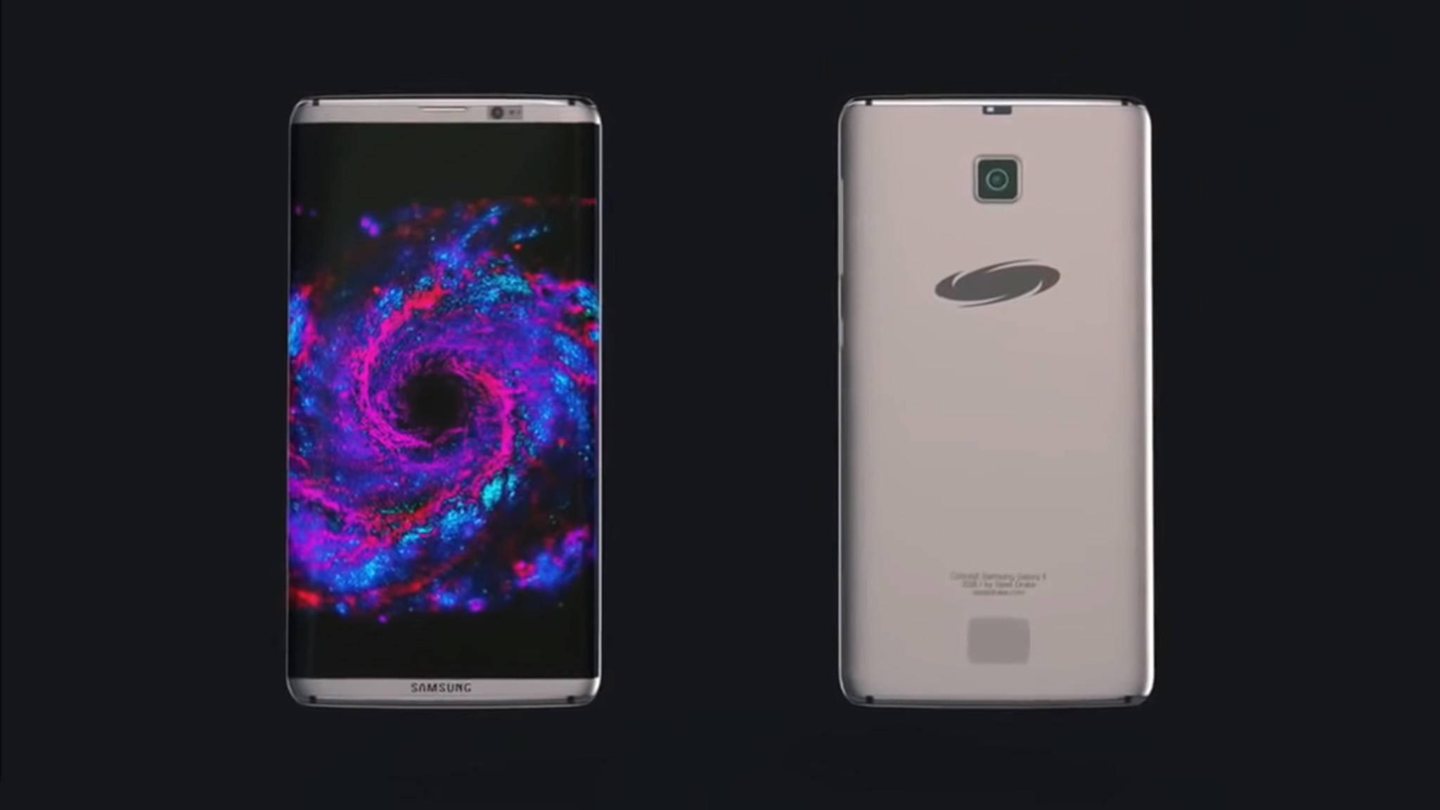 Kommt das Samsung Galaxy S8 Ende März? Hier eine Konzeptstudie des künftigen Flaggschiffs.