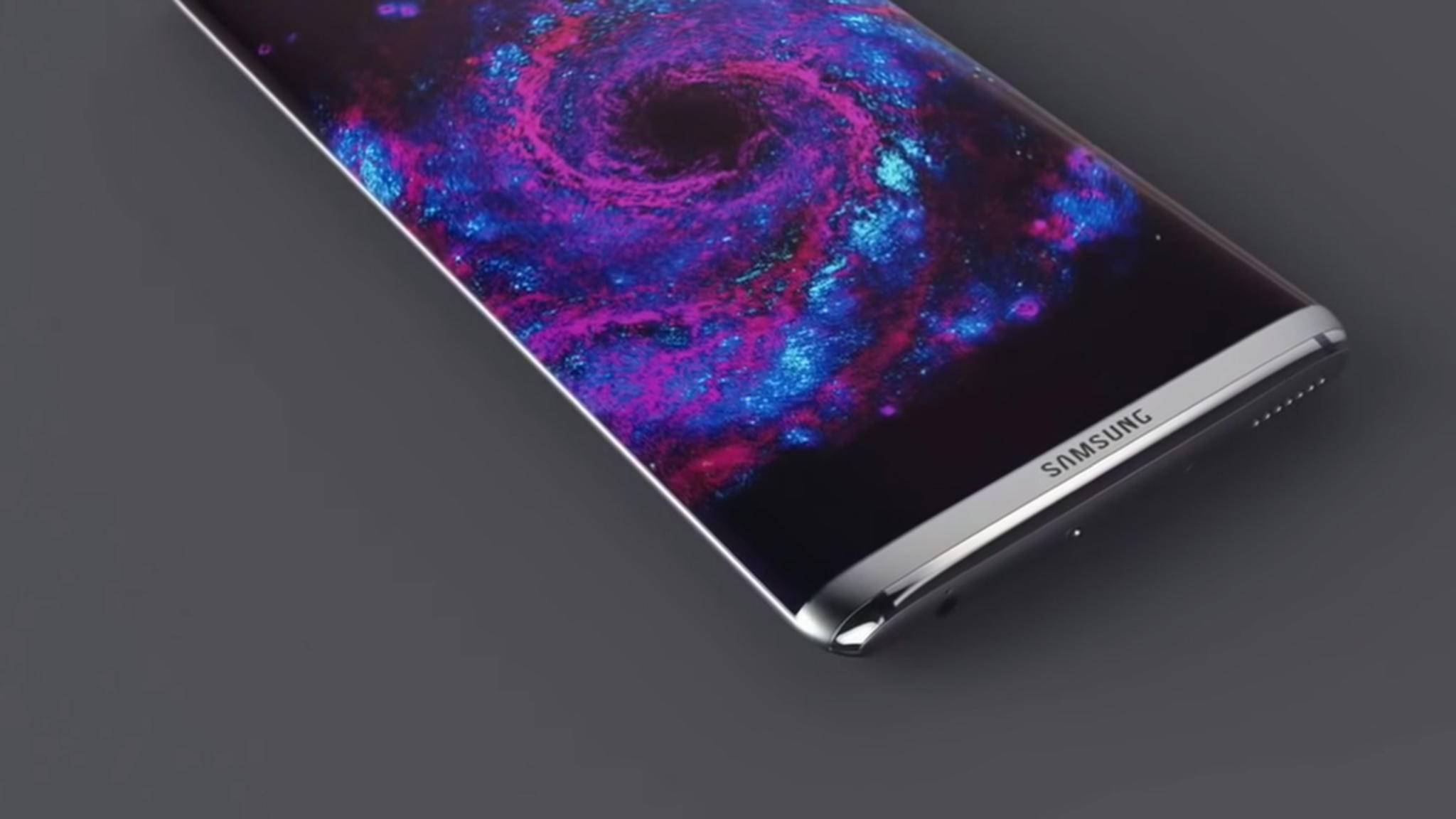 """Eine Konzeptstudie des Samsung Galaxy S8: Wann das """"echte"""" Modell Release feiern wird, steht noch nicht fest."""