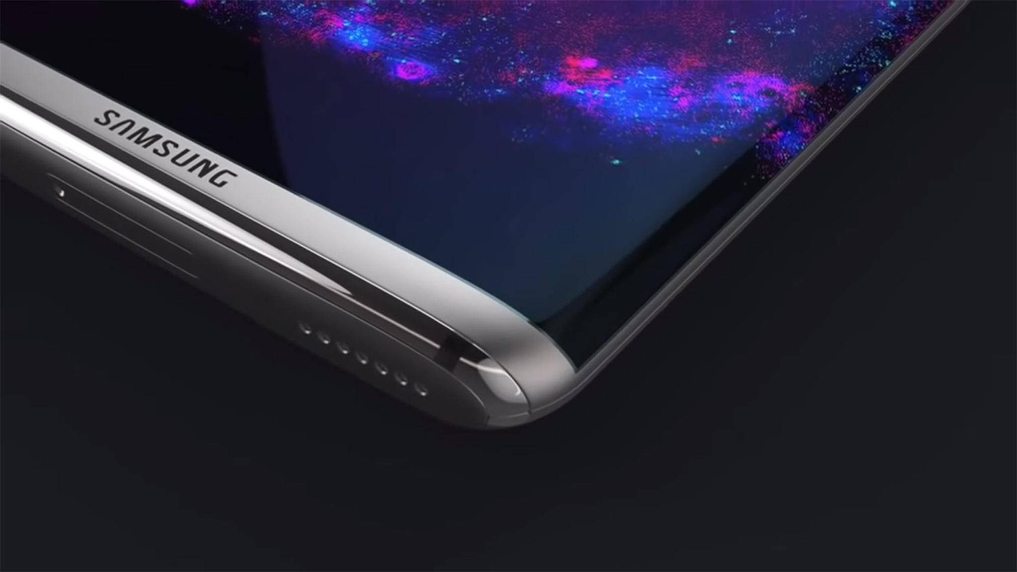 Das Galaxy S8 soll ein nahezu rahmenloses Display bekommen.