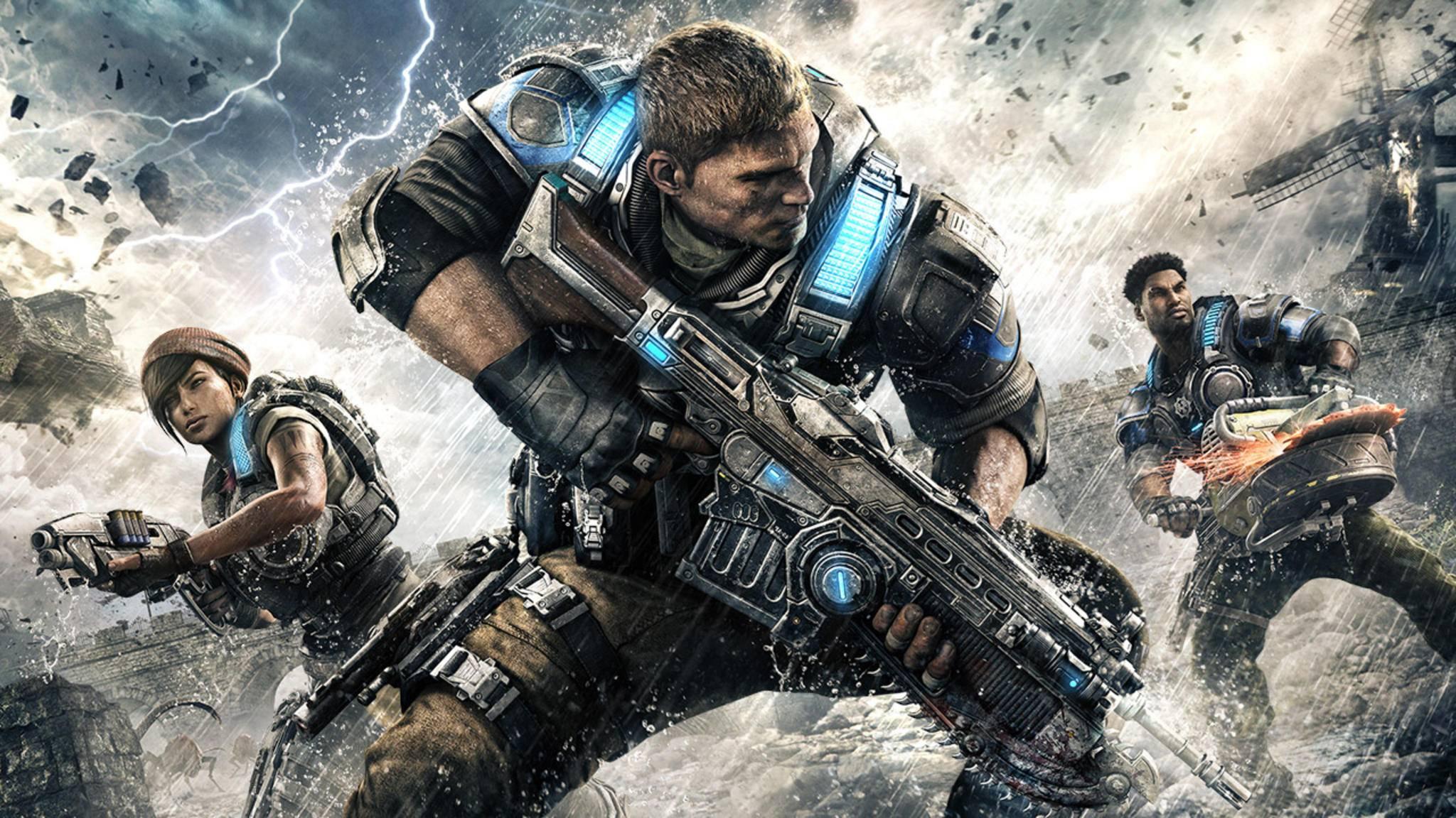 """In """"Gears of War 4"""" können PC- und Konsolen-Spieler nun gegeneinander antreten."""