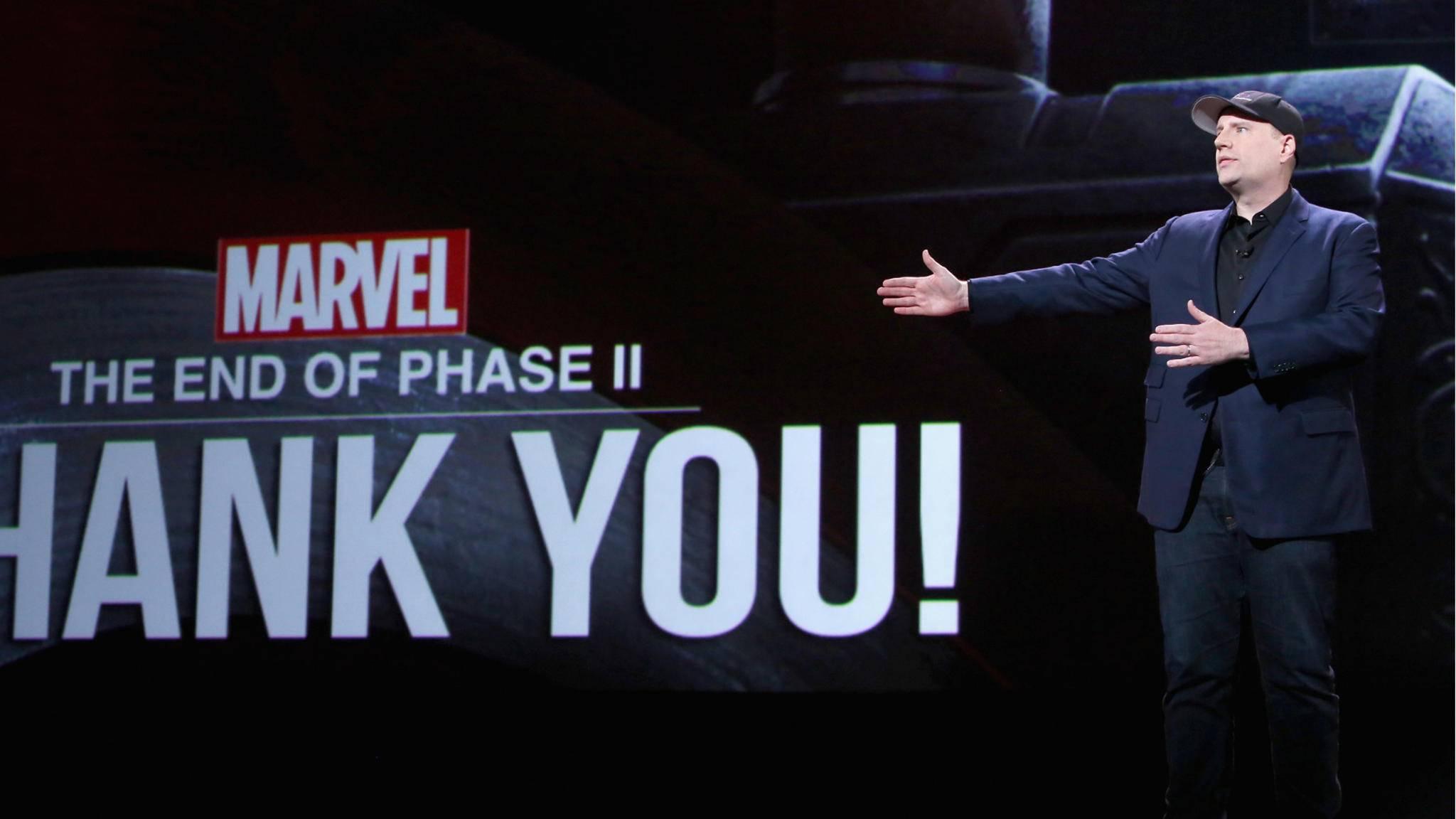 Produzent Kevin Feige hat bei Marvel den Hut auf.