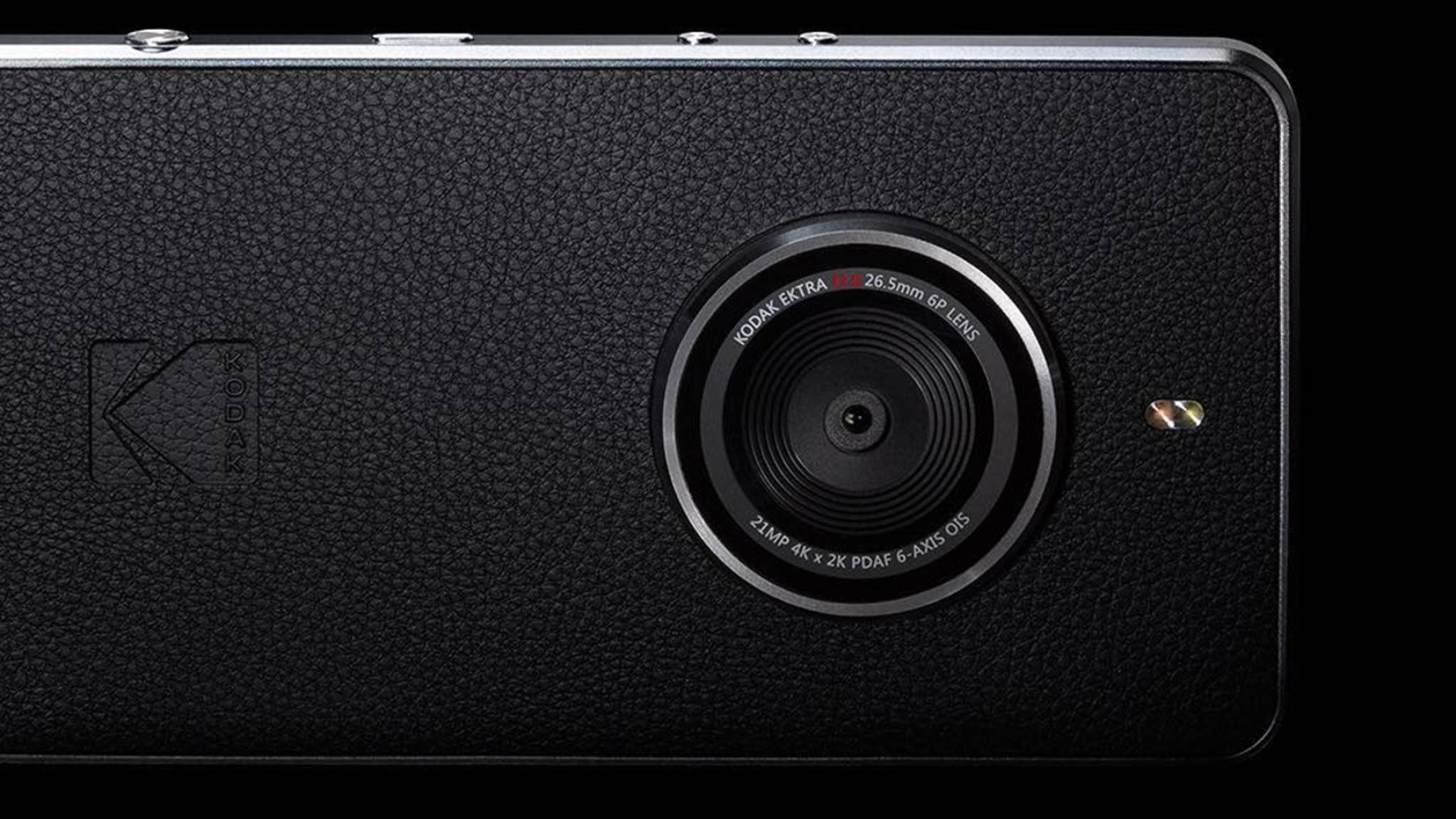 Das Kodak Ektra hat eine 21-Megapixel-Kamera auf der Rückseite.