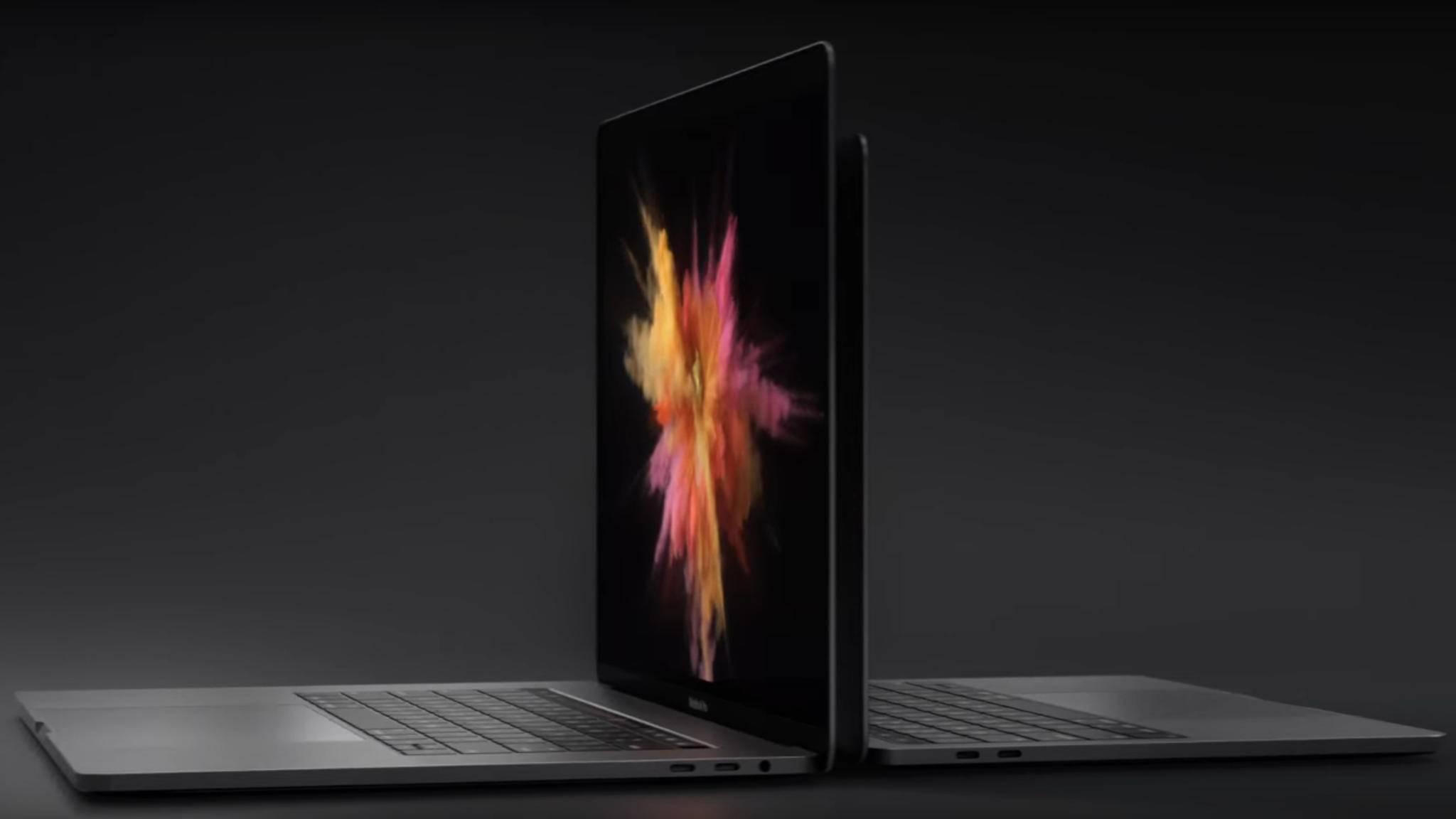Das neue MacBook Pro hat nur USB-Typ-C-Anschlüsse.