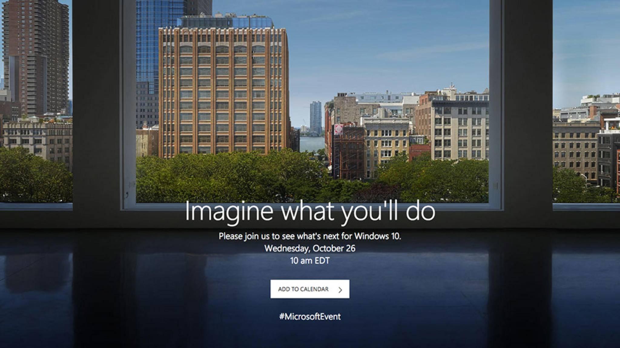 Was wird Microsoft am 26. Oktober wohl enthüllen?