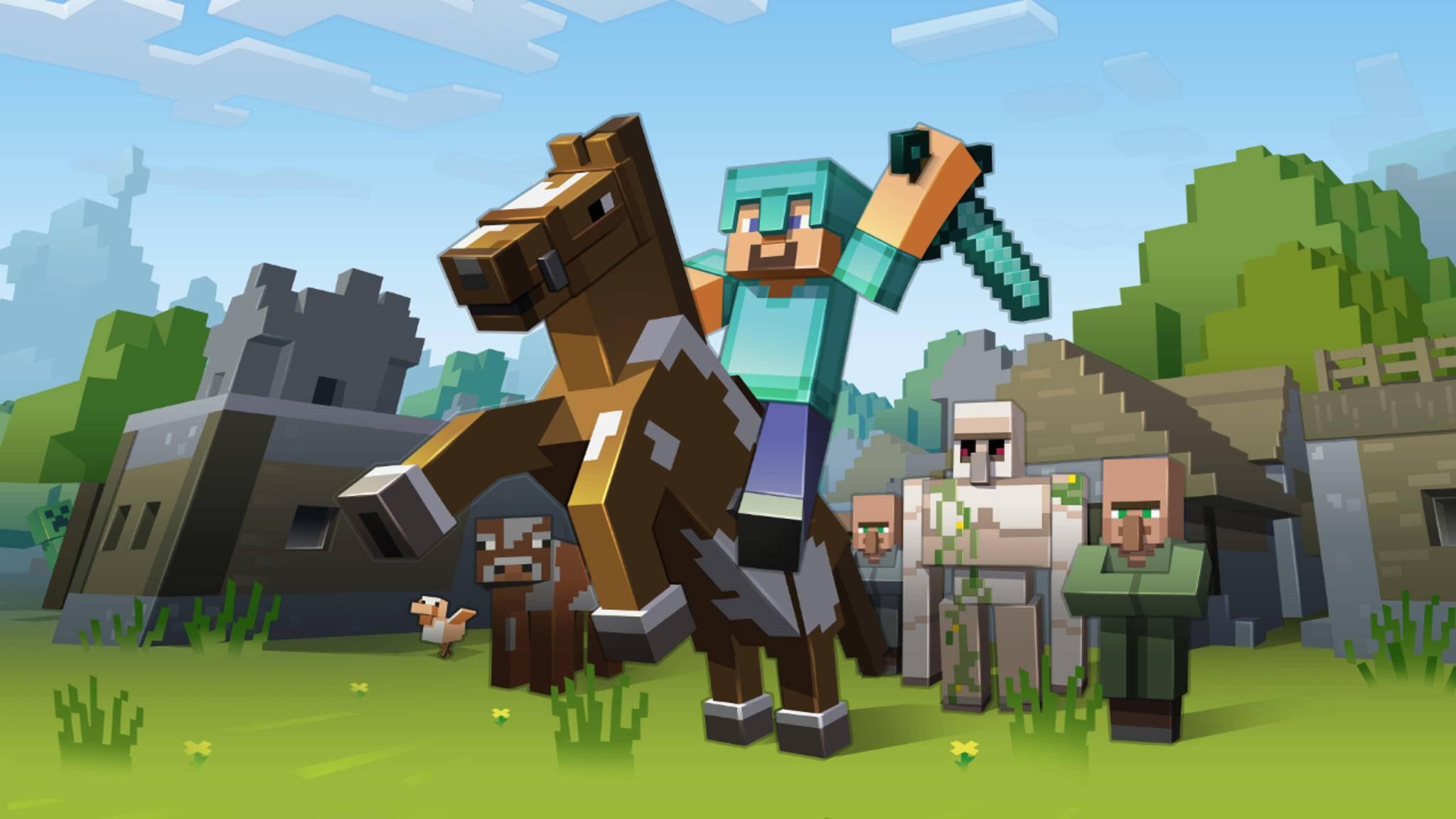 """Mit """"Minecraft"""" kann man riesige Welten bauen."""