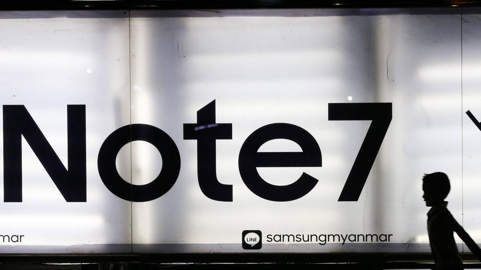 Düstere Zeiten für Samsung: Das Galaxy Note 7 wird nicht mehr verkauft.