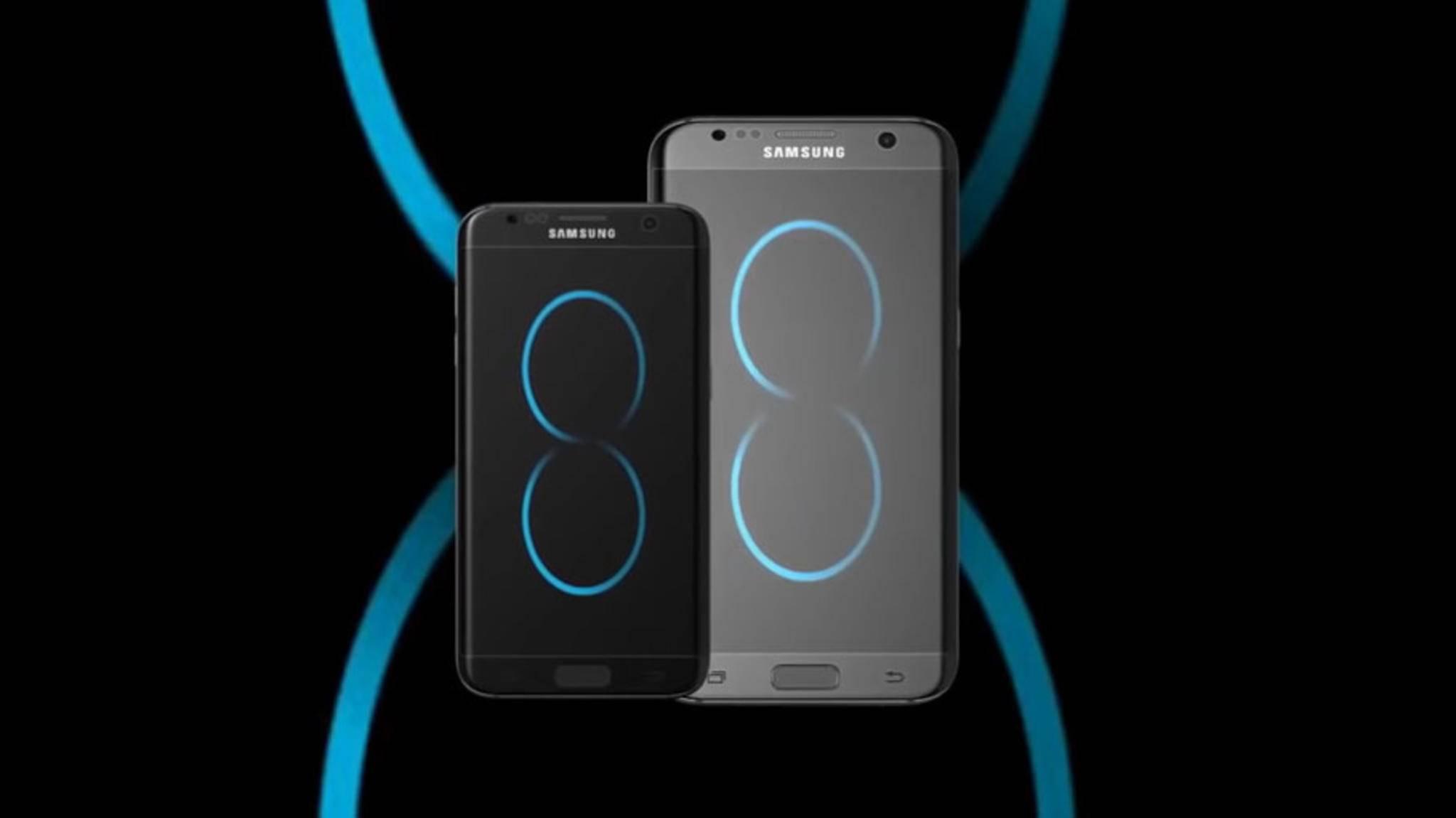 Ehrgeiziges Ziel: Schafft es Samsung vom Galaxy S8 60 Millionen Exemplare zu verkaufen? Hier eine Konzeptstudie des kommenden Flaggschiffs.