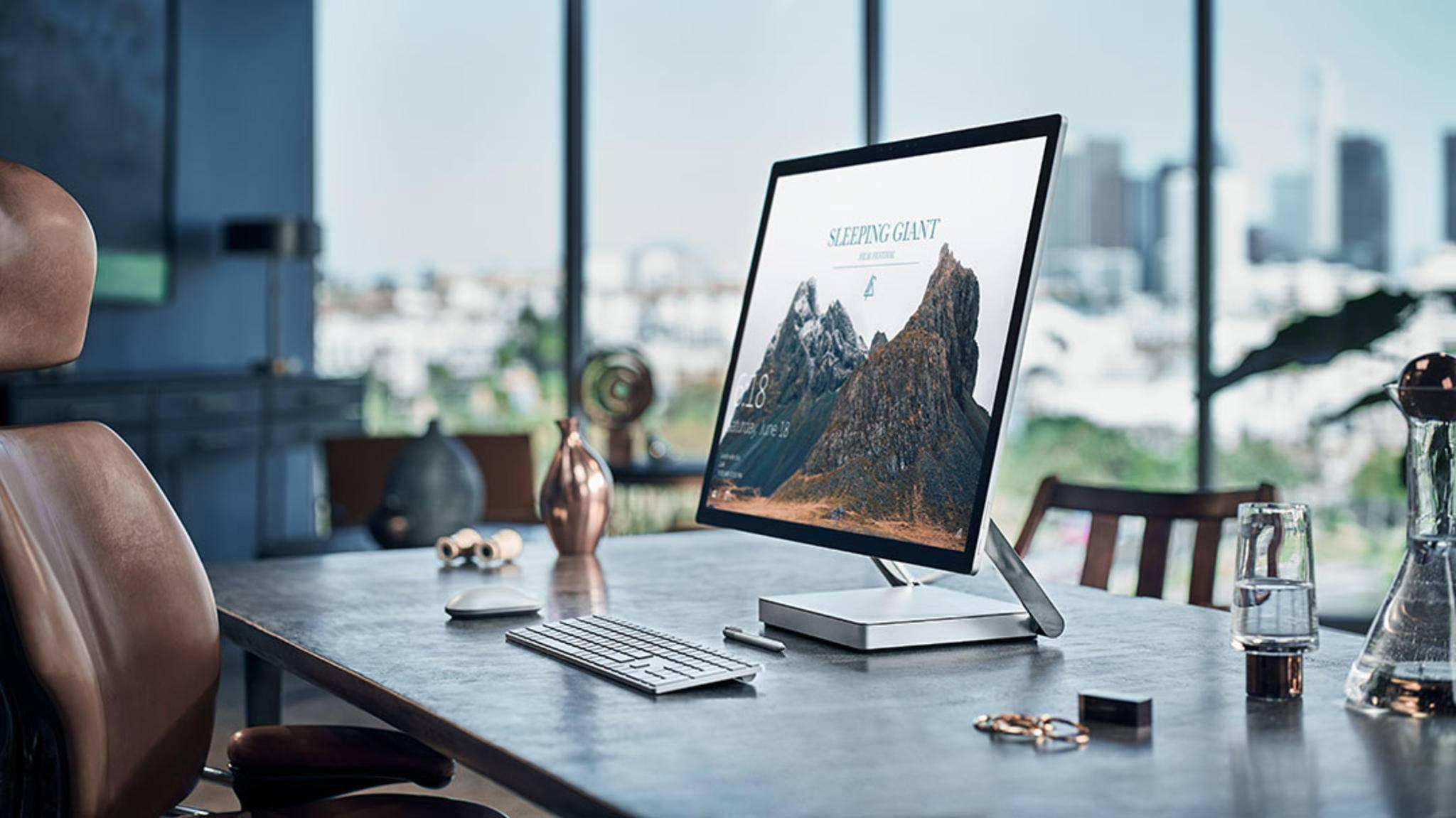 Ein echter Hingucker: Das Microsoft Surface Studio.