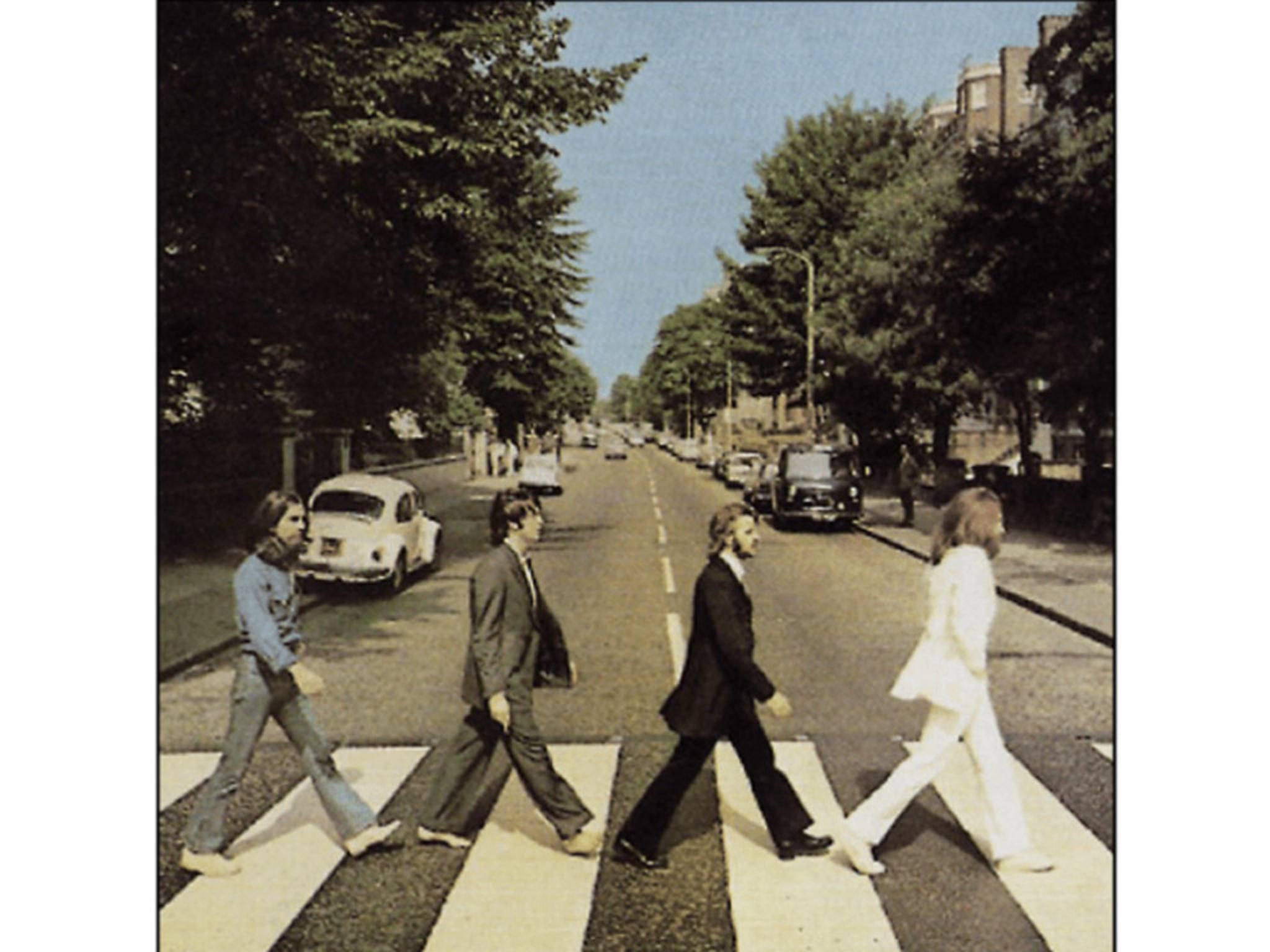 """Aus Faulheit entstanden: Das Cover zu """"Abbey Road""""."""