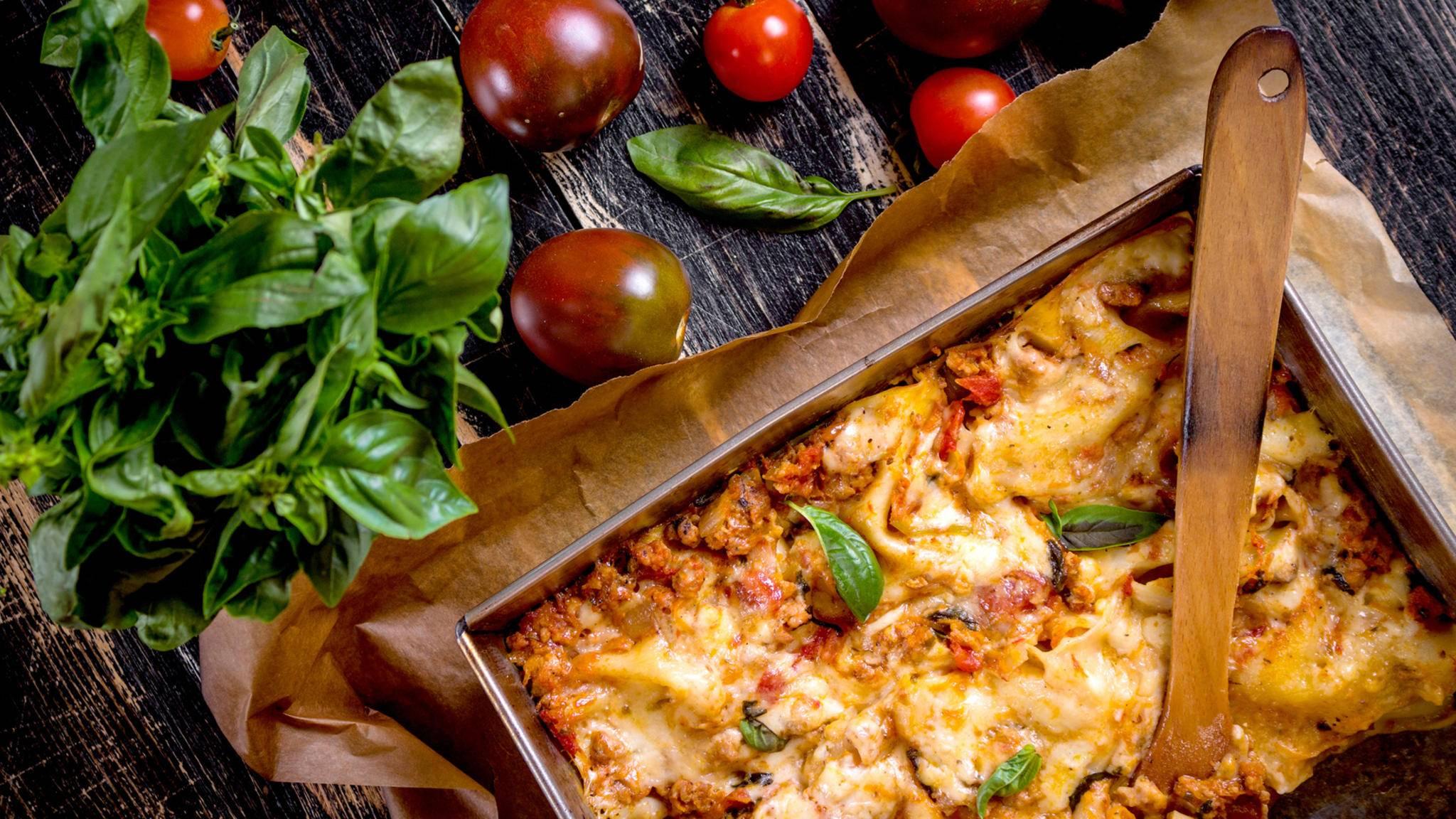 Lasagne schmeckt am Folgetag noch mal so gut.