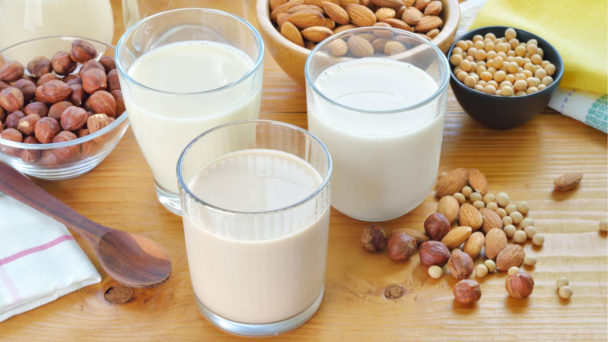 Aus Nüssen, Getreide und Co. lässt sich leckere Pflanzenmilch zaubern.