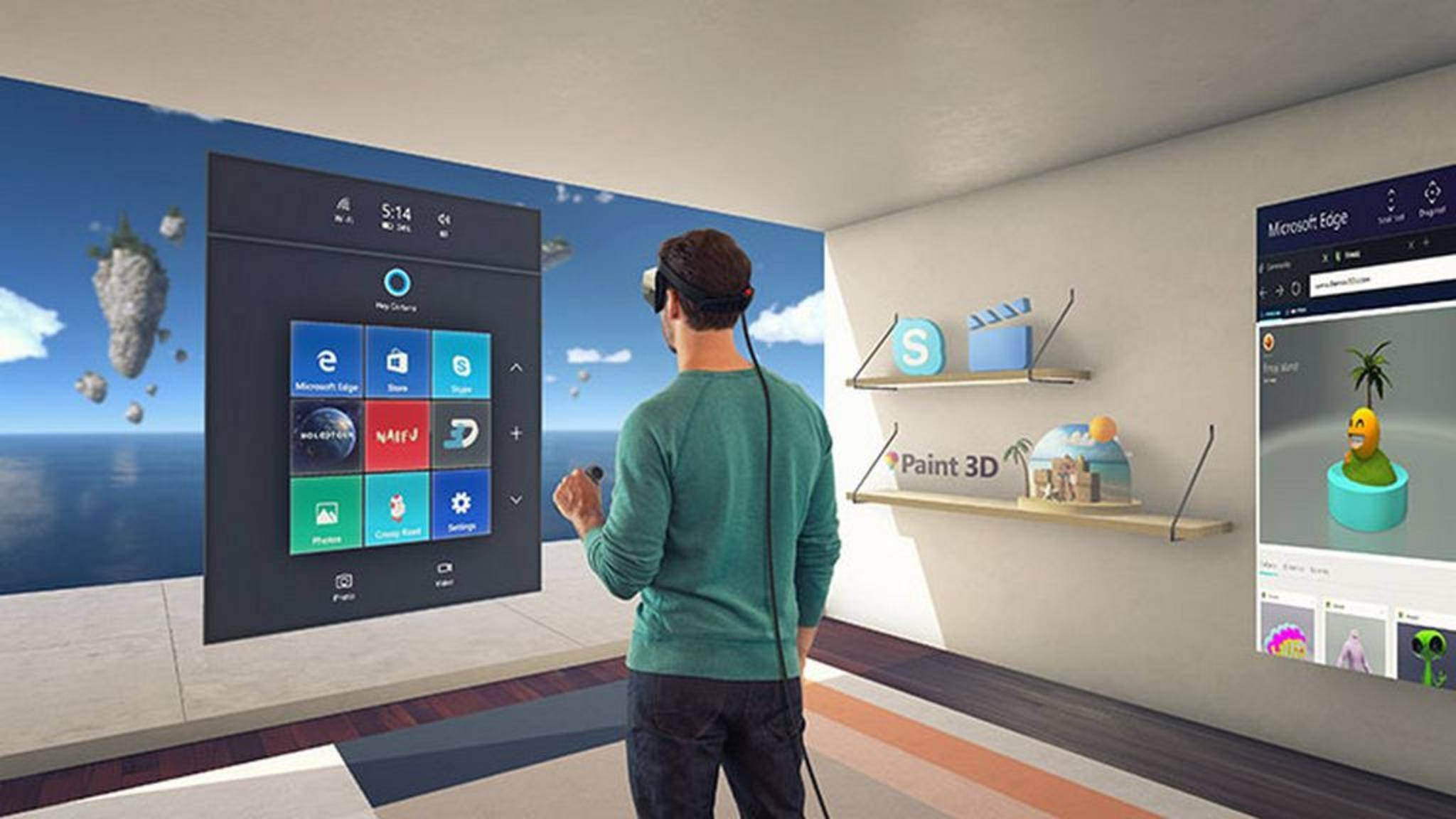Windows 10 bekommt mit dem Creators Update ein VR-Interface.