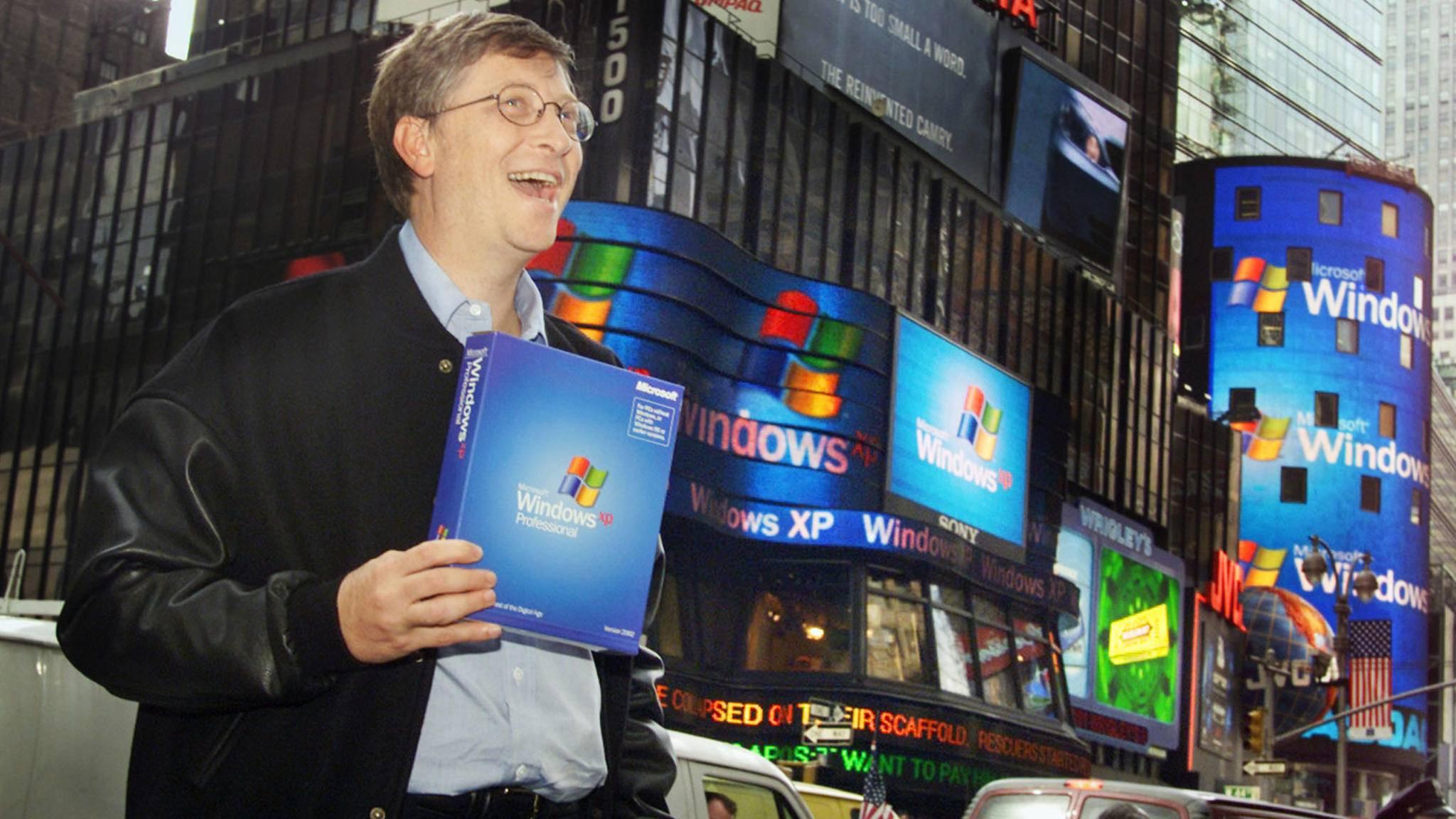 Bill Gates hat gut Lachen: Windows XP war für Microsoft ein voller Erfolg.