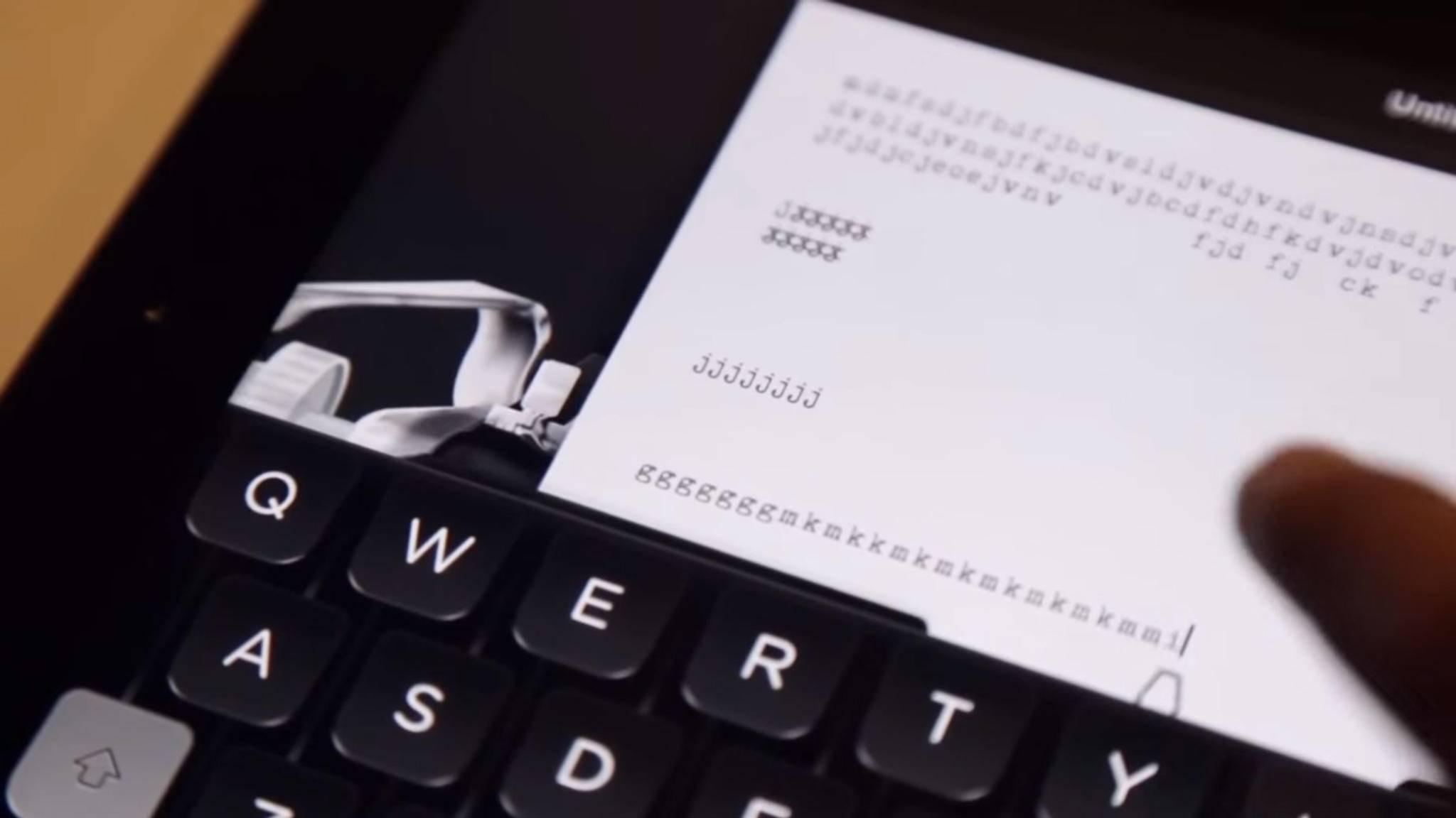 Sogar Tom Hanks hat eine eigene Schreib-App: Hanx Writer.