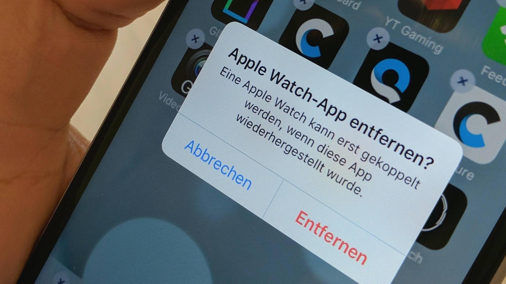 Keine Sorge: Entfernte Stock-Apps können einfach wiederhergestellt werden.