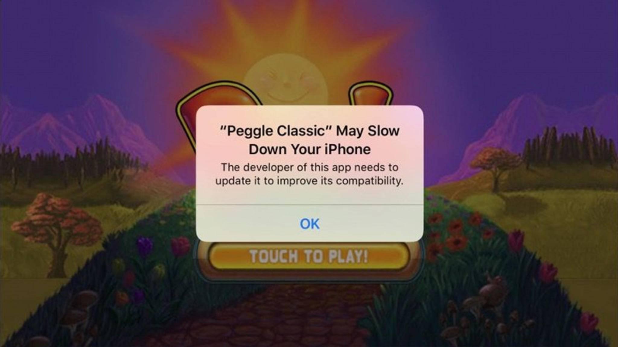 Veraltete Apps verlangsamen das iPhone.