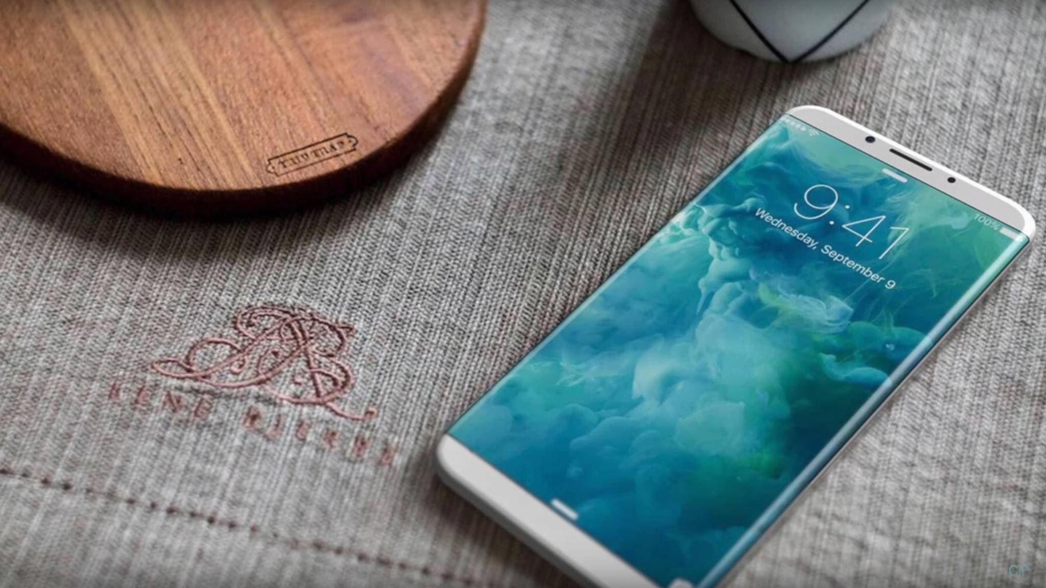 In dieser Konzeptstudie des iPhone 8 ist das gekrümmte randlose Display zu sehen.