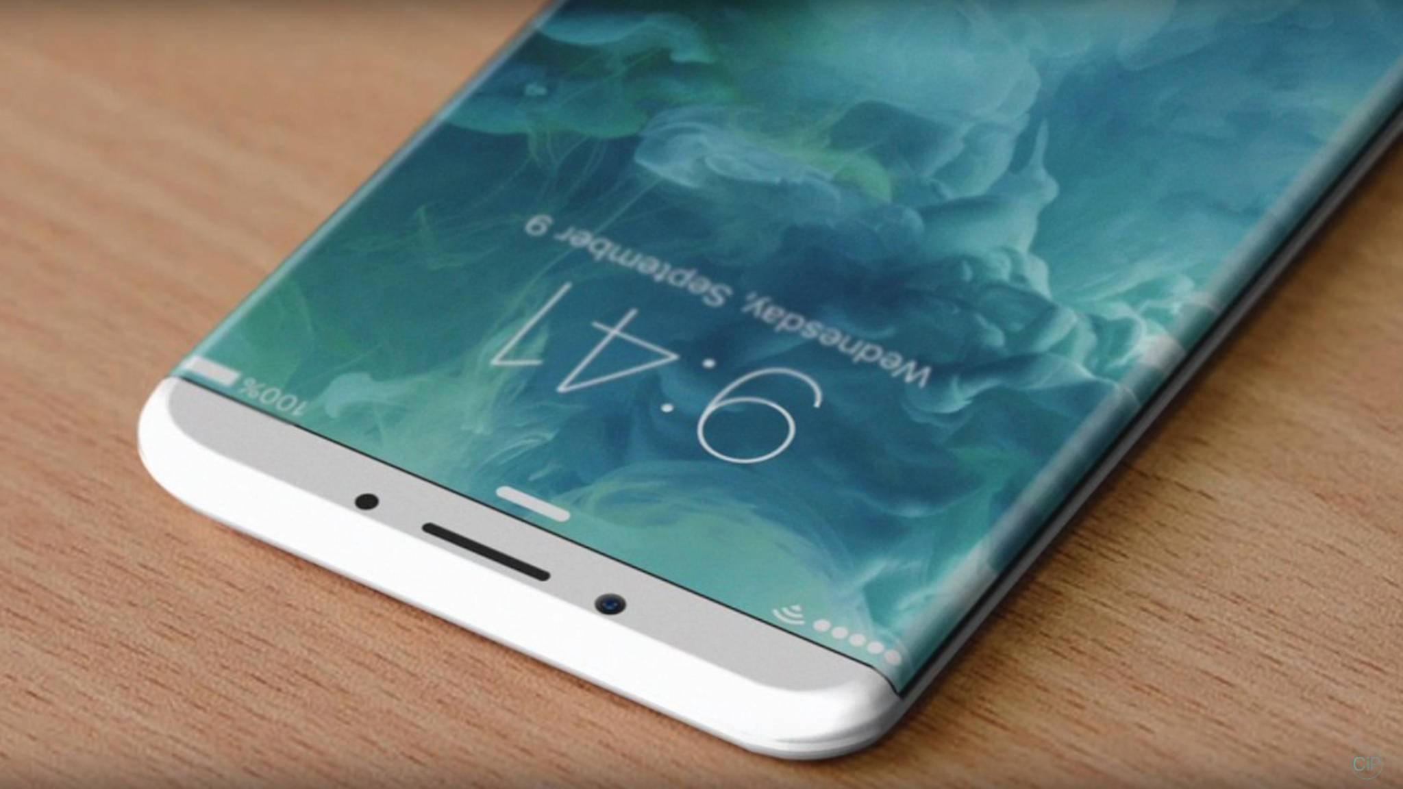 Wird das iPhone 8 – hier ein Konzeptbild – nur noch mit OLED-Displays ausgestattet sein?