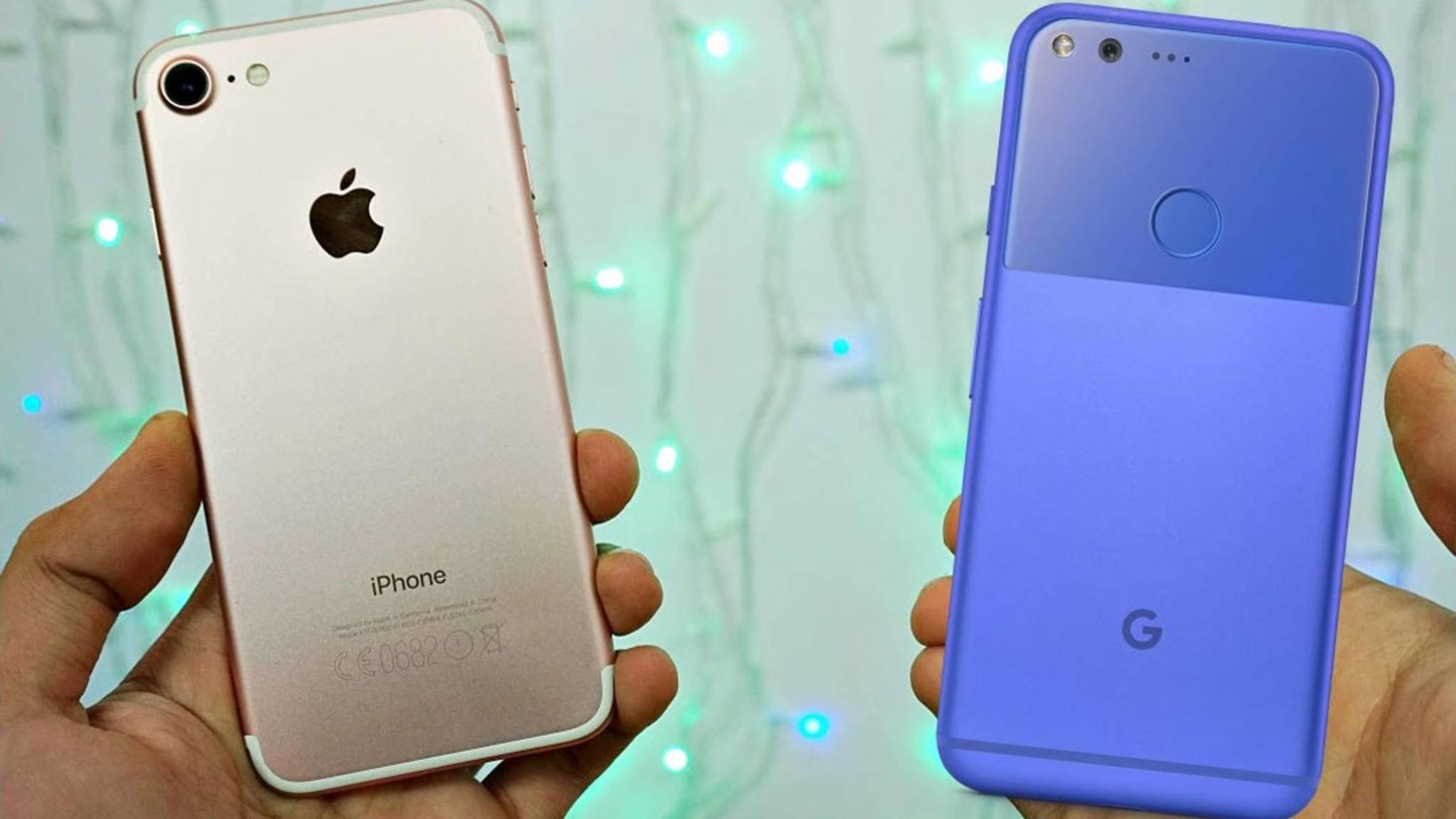 Leistung, Speicher, Sound: Das iPhone 7 ist in vielen Punkten besser als das Pixel Phone.