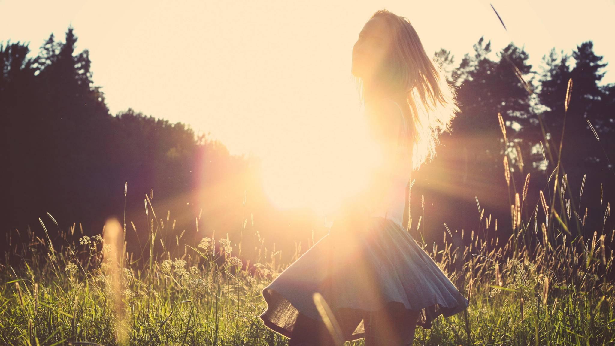 Auch Sonnenlicht trägt zur Gesundheit bei.