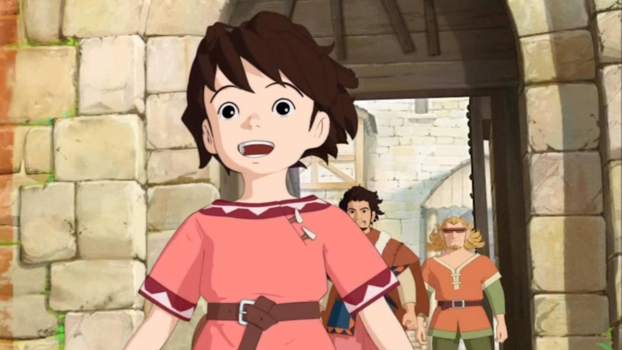 So sieht Ronja Räubertochter in der Anime-Version von Studio Ghibli aus.