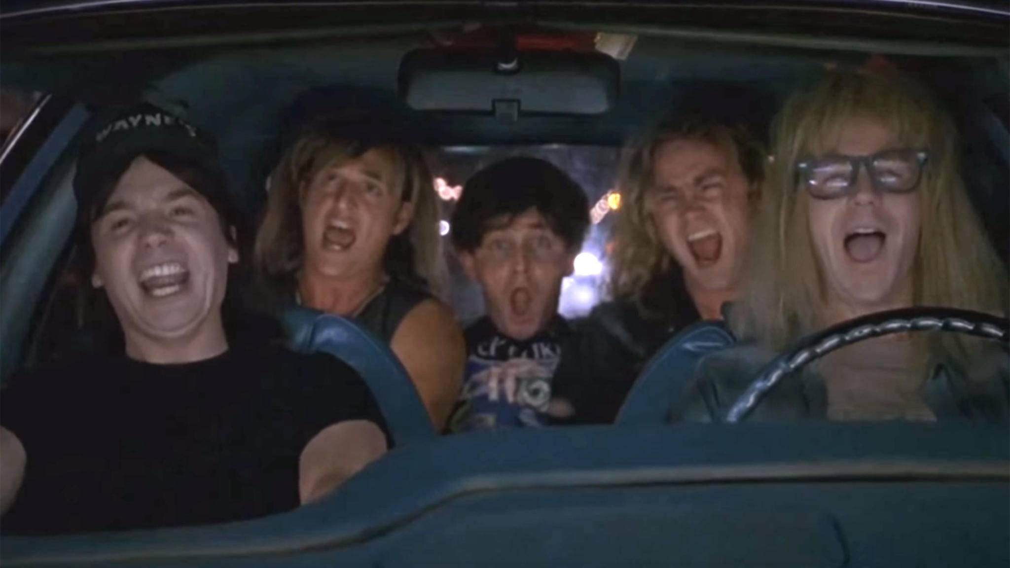 """""""Mamma Mia let me go!"""": Durch seine Verwendung in der Komödie """"Wayne's World"""" bekam der Queen-Song """"Bohemian Rhapsody"""" noch einmal ordentlich Aufwind."""
