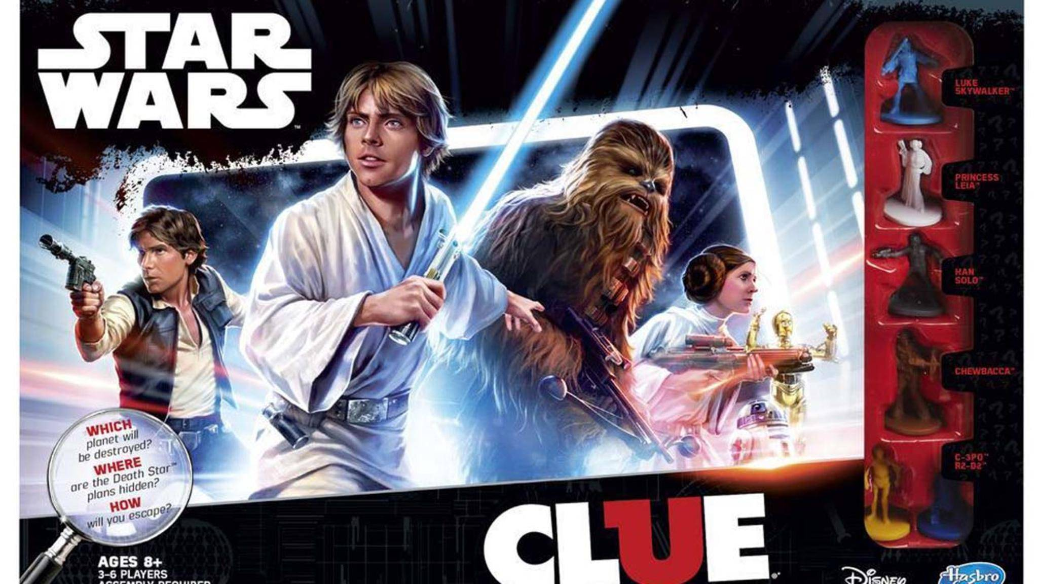 """Rätsel lösen mit Luke, Leia und Co.: """"Cluedo: Star Wars"""" macht's möglich!"""