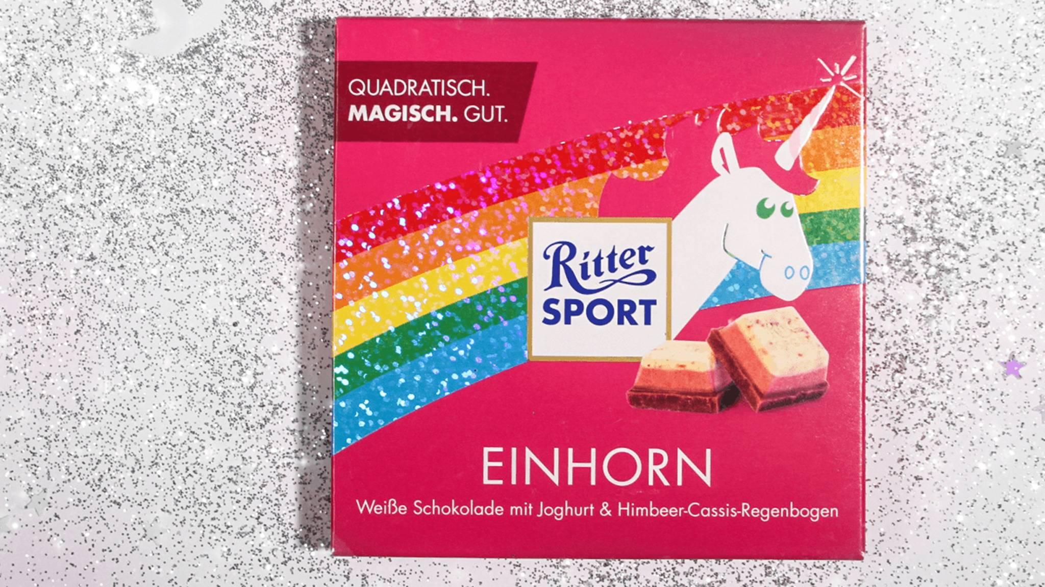 Glitzer gewinnt! Mit seiner Einhorn-Schokolade traf der Schoko-Hersteller Ritter Sport mitten ins Herz seiner Fans.