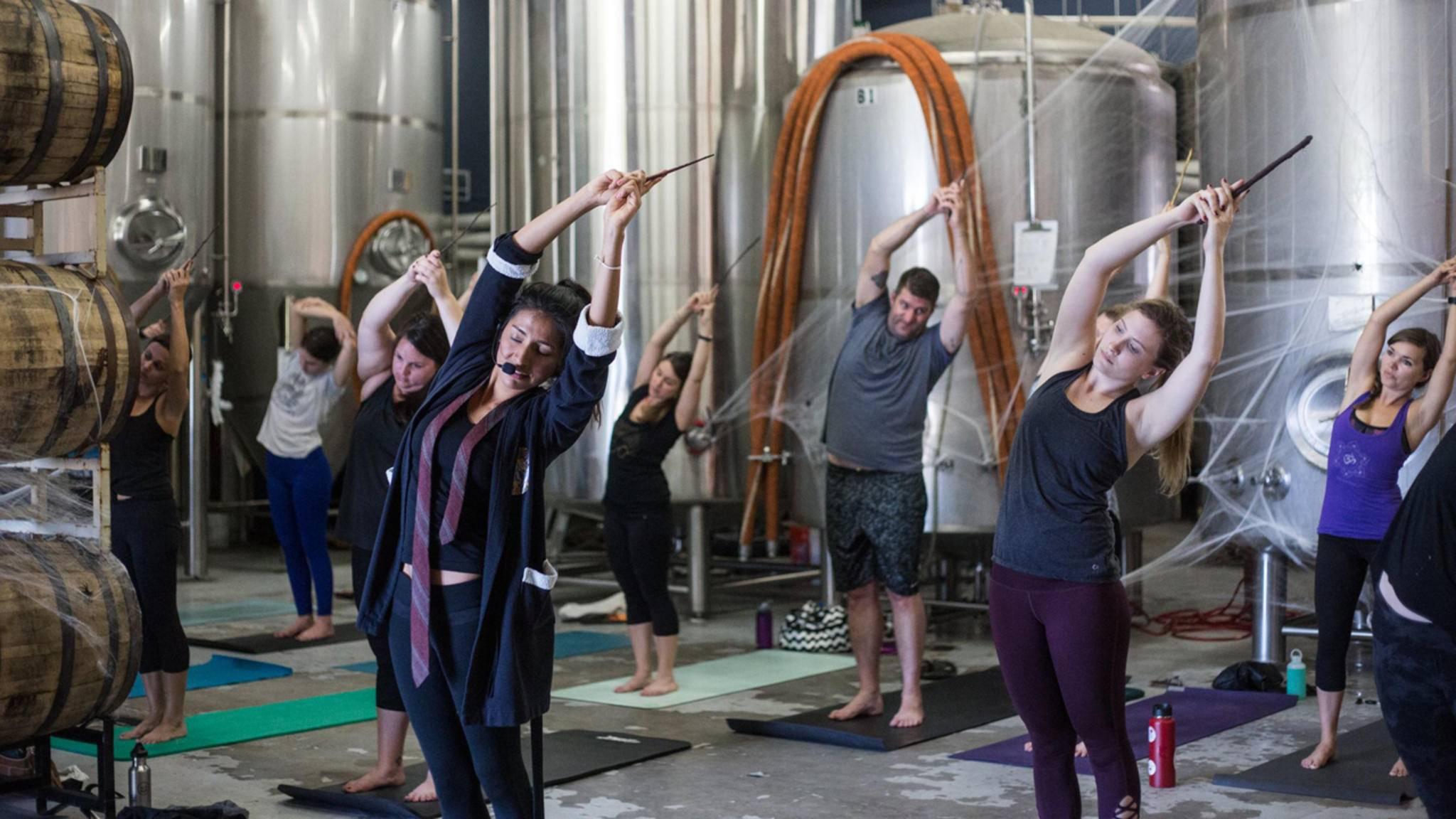 Magisch! Harry Potter und Yoga sieht nach einer gelungenen Kombination aus...