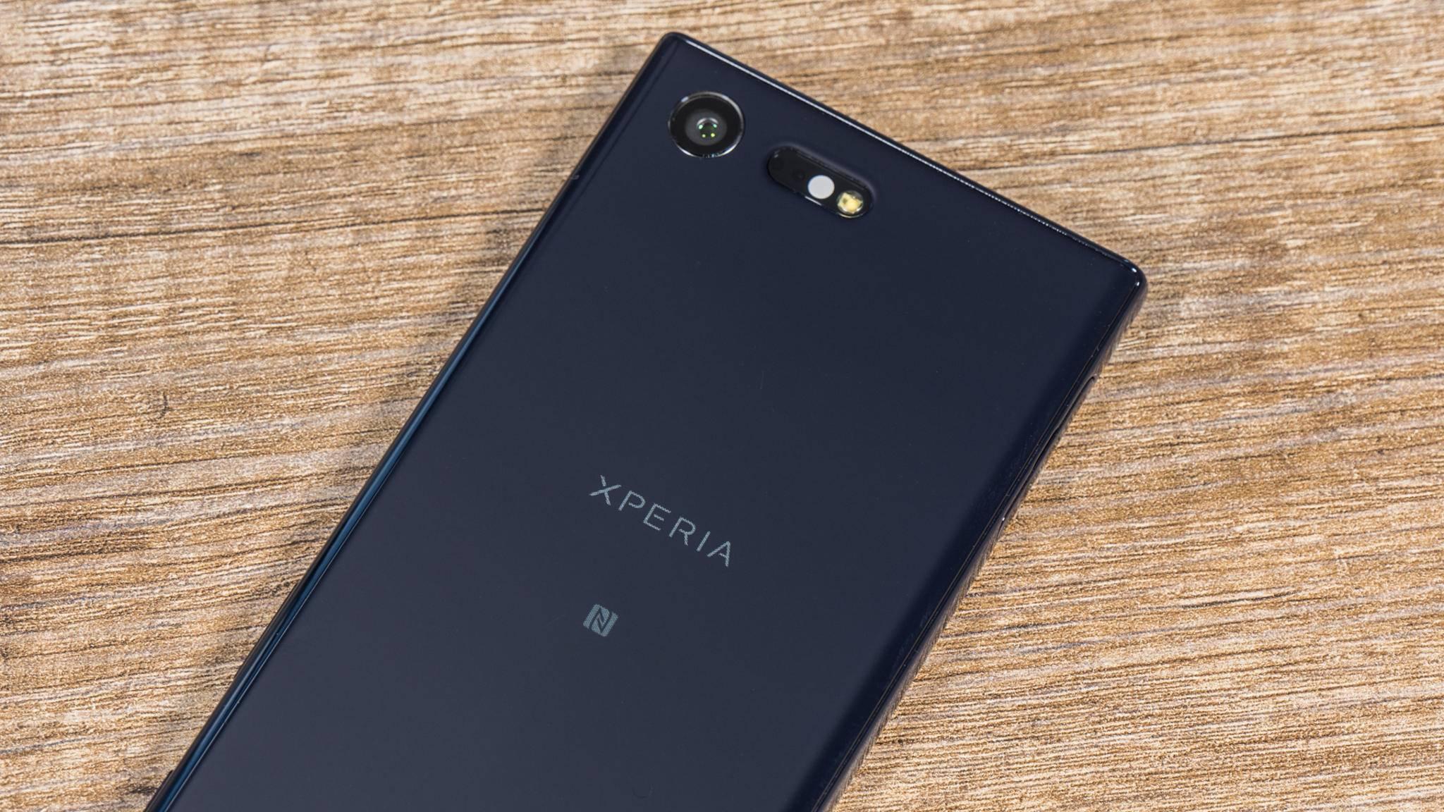 Bei Sony befindet sich das NFC-Symbol direkt auf dem Smartphone.