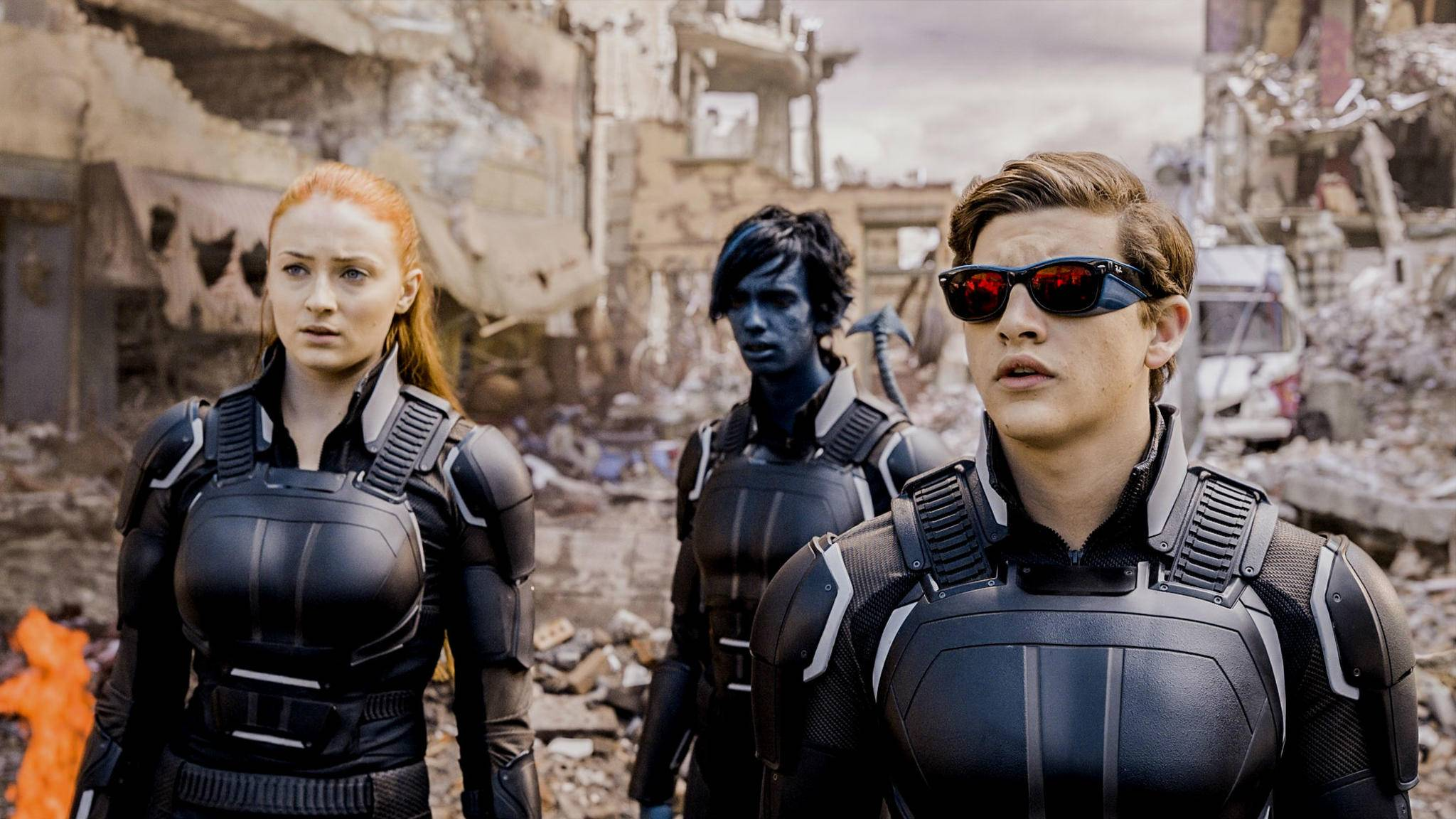 """Ob es weitere """"X-Men""""-Filme mit Sophie Turner, Kodi Smit-McPhee und Tye Sheridan (v.l.n.r.) geben wird, ist fraglich."""