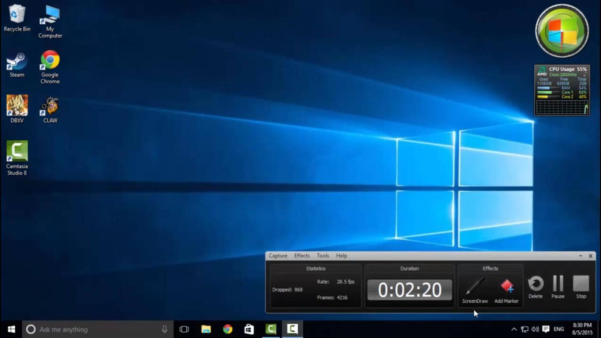 """Mit dem 8GadgetPack kehren die Widgets oder """"Gadgets"""" von Windows 7 zurück."""