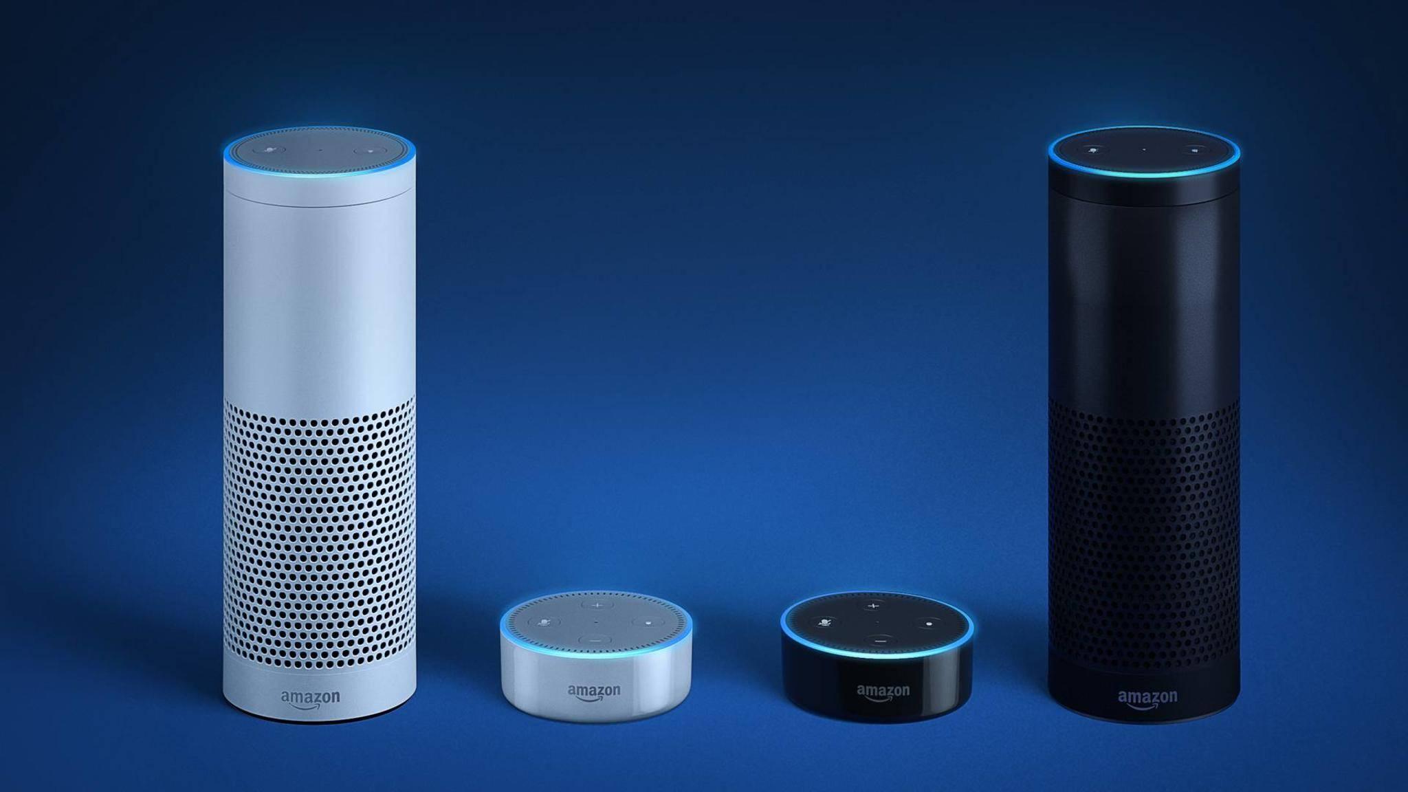 Amazon Echound der Echo Dot.