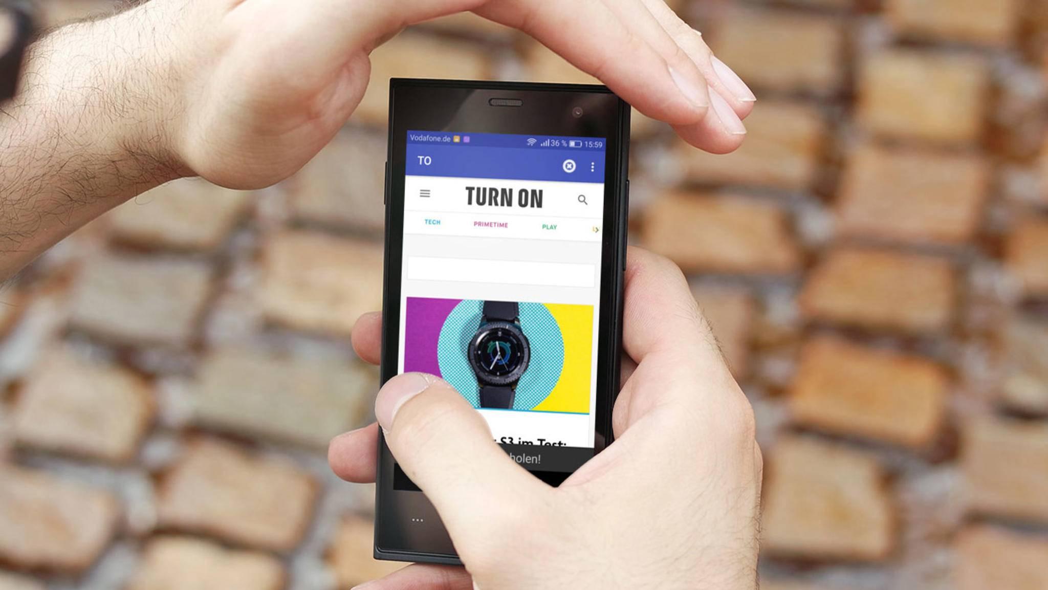 Mit einer App kannst Du Webseiten auf einem Android-Smartphone offline speichern.
