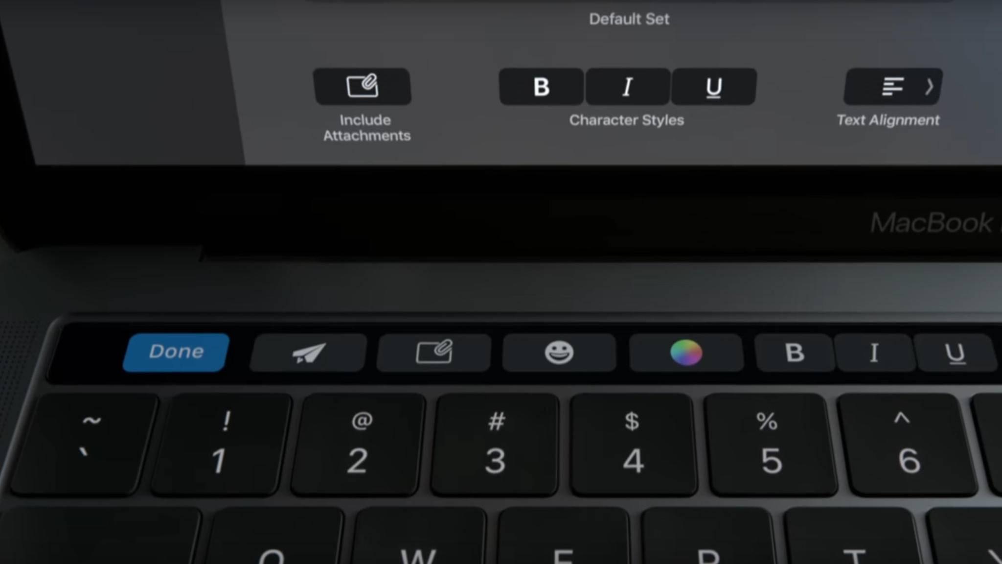 Office unterstützt nun die Touch Bar des MacBook Pro.