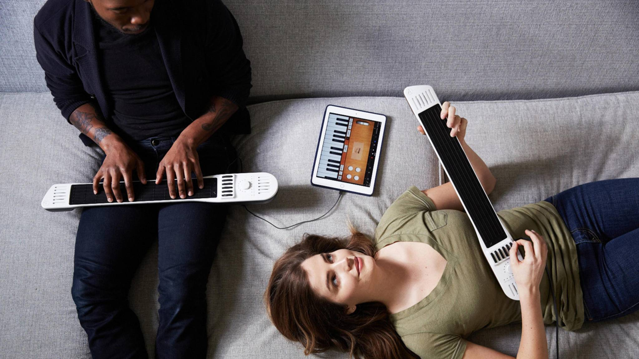 Moderne Instrumente wie das Artiphon Instrument 1 wecken mit neuen Herangehensweisen ans Musikmachen die Kreativität.