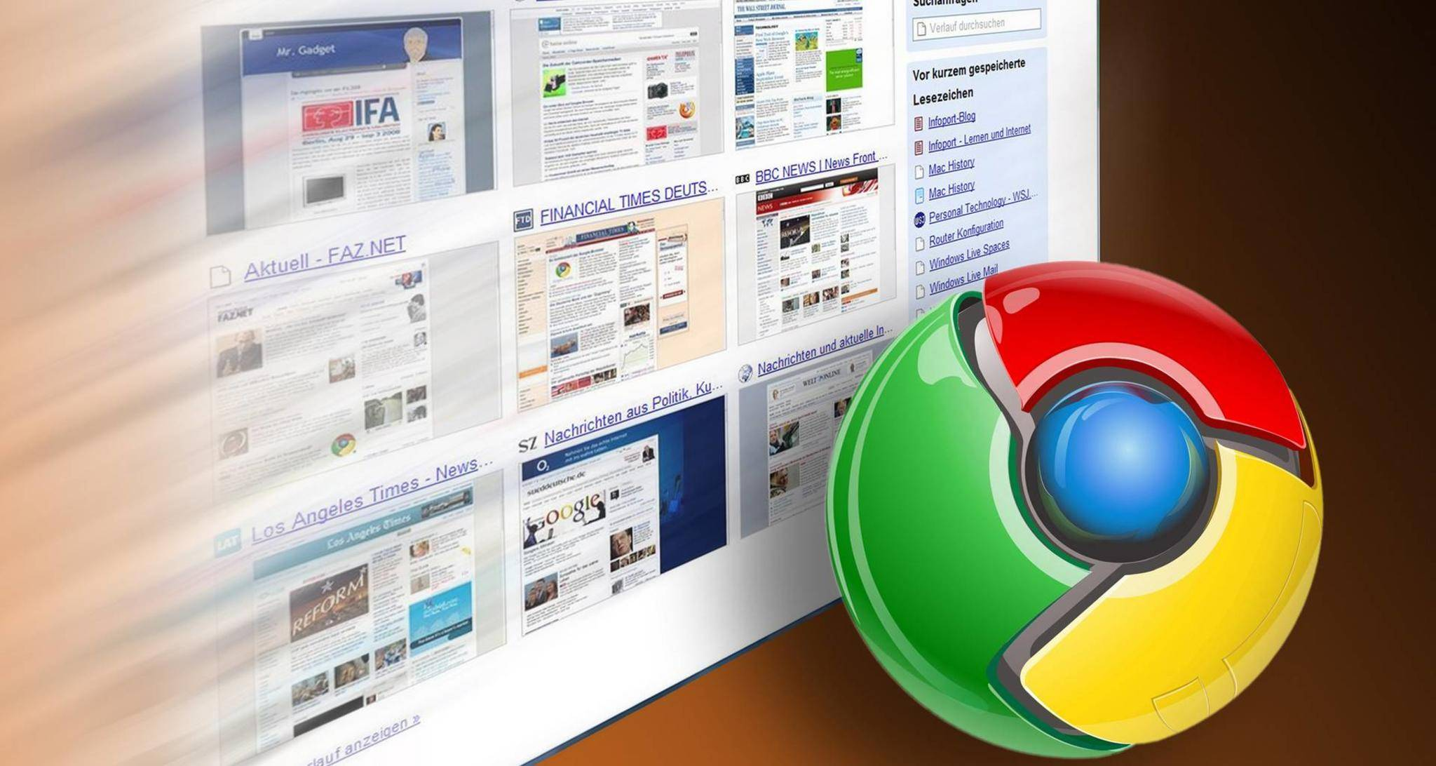 Chrome beherrscht das Internet.