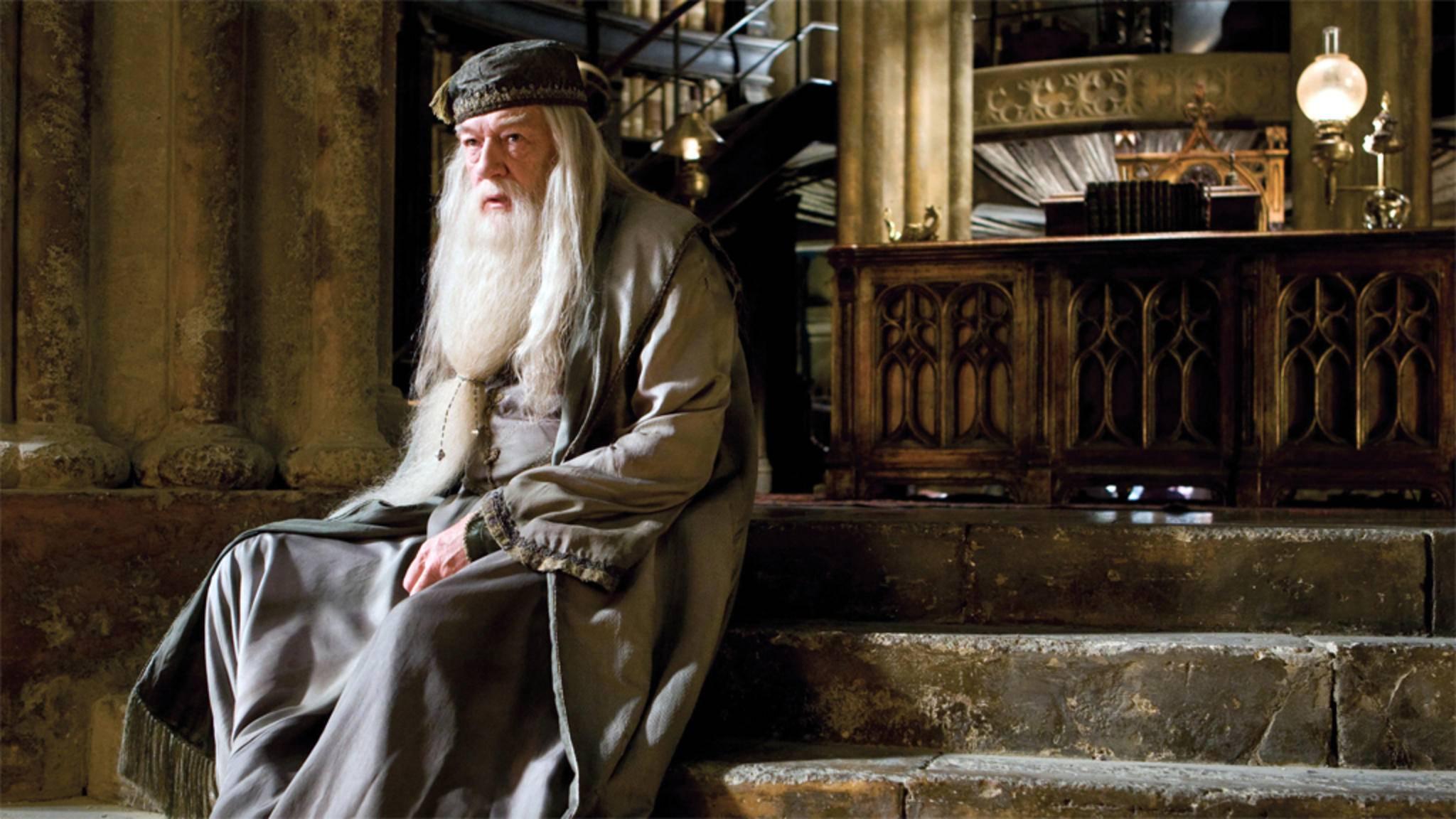 """Ab dem dritten Teil der """"Harry Potter""""-Reihe schlüpfte Michael Gambon in die Rolle von Albus Dumbledore."""